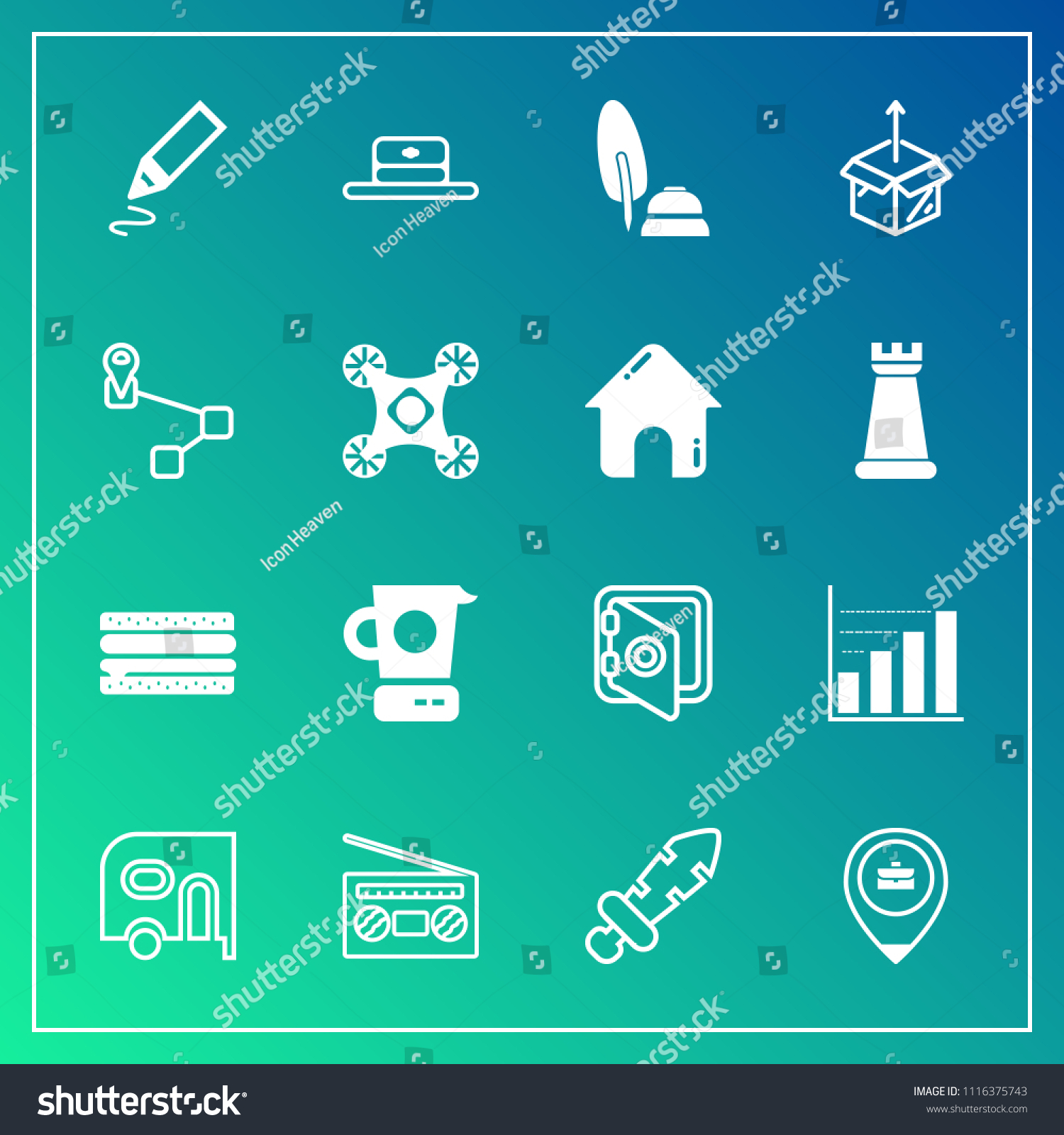 Modern Simple Vector Icon Set On Stock Vector 1116375743 - Shutterstock