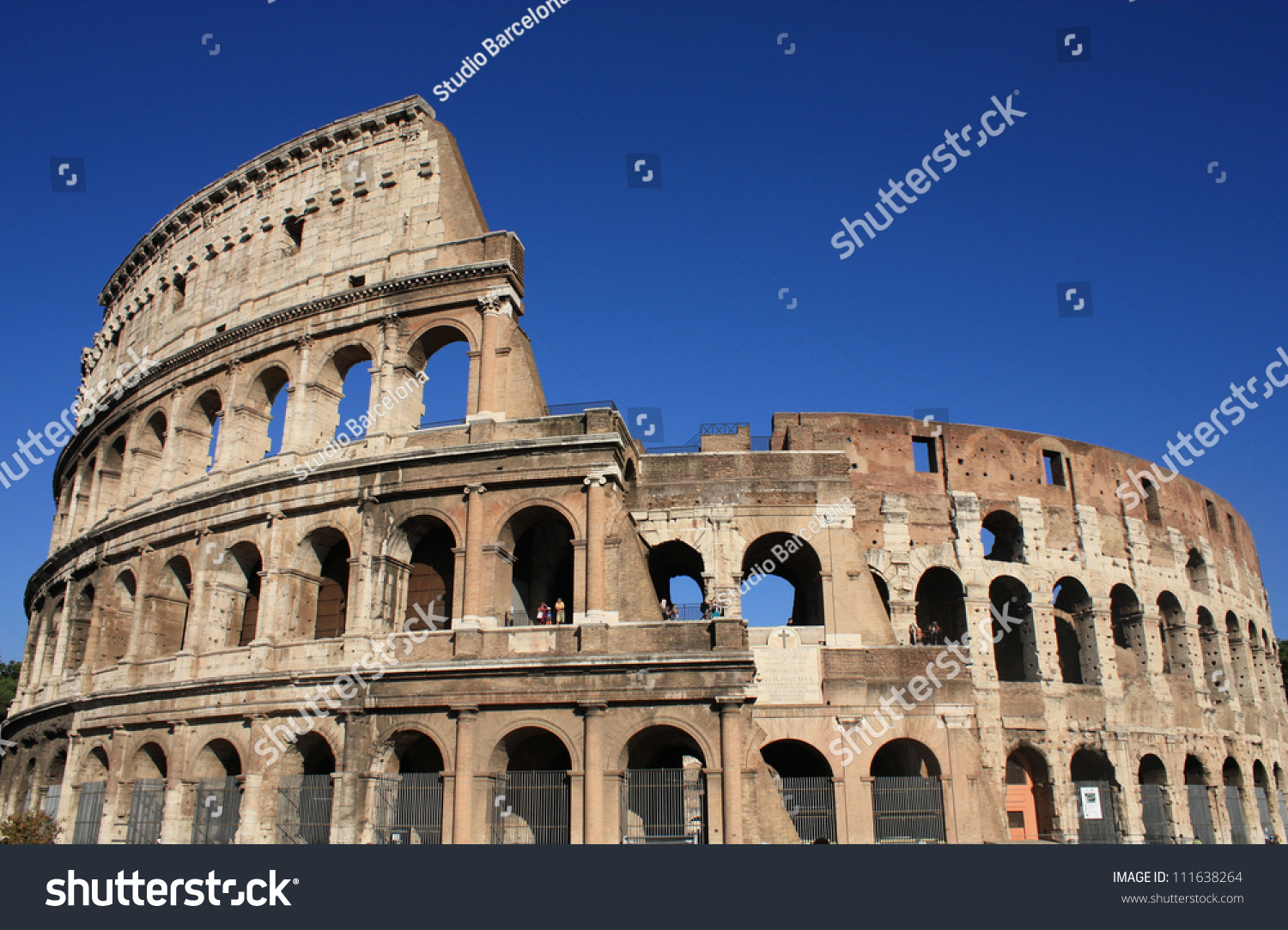 Colosseum Rome Italy Ancient Architecture Stock Photo 111638264