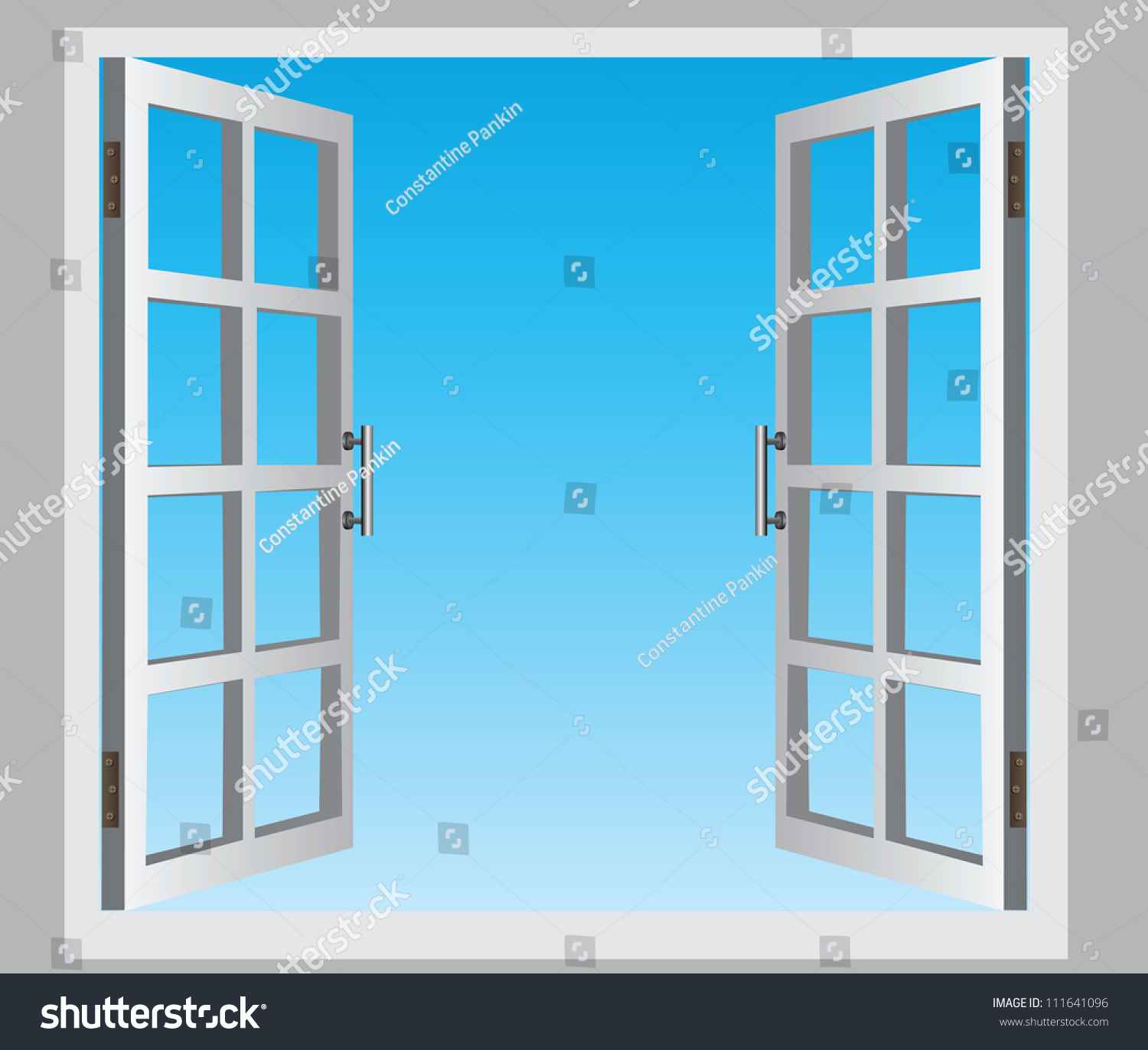 Standard casement window sizes chart image -  0d8dbe The Open Casement Windows The Blue Sky Vector Illustration Hopper Windows Sizes 4235