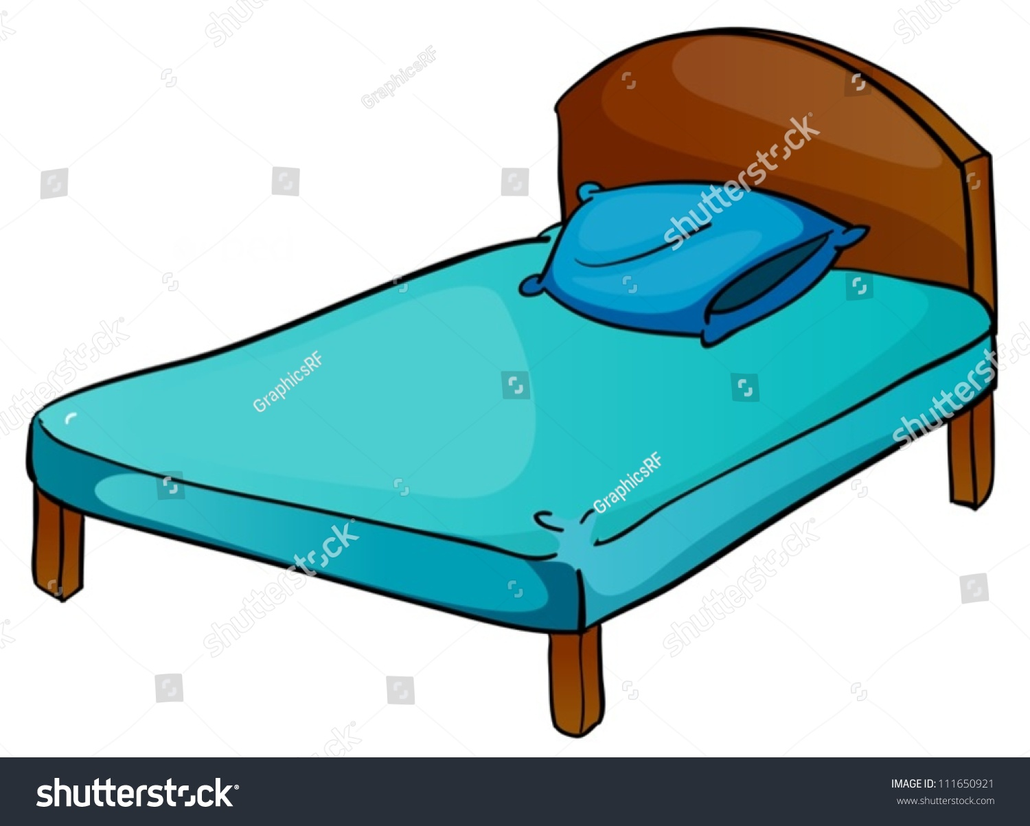 of bed and pillow on a white background - Bed Pillow Chair