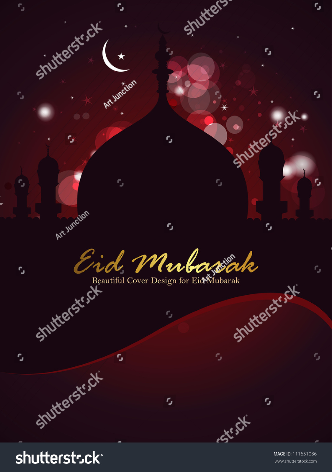 Beautiful eid mubarak brochure front cover stock vector 111651086 beautiful eid mubarak brochure front cover design eps 10 kristyandbryce Choice Image