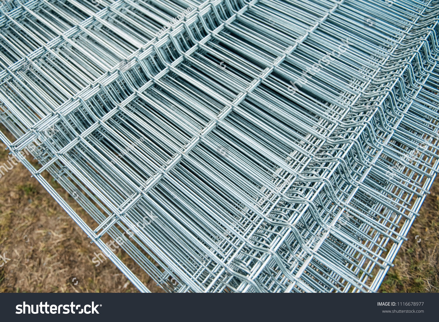 Brilliant Polished Metal Wire Mesh Folded Stock Photo (Edit Now ...