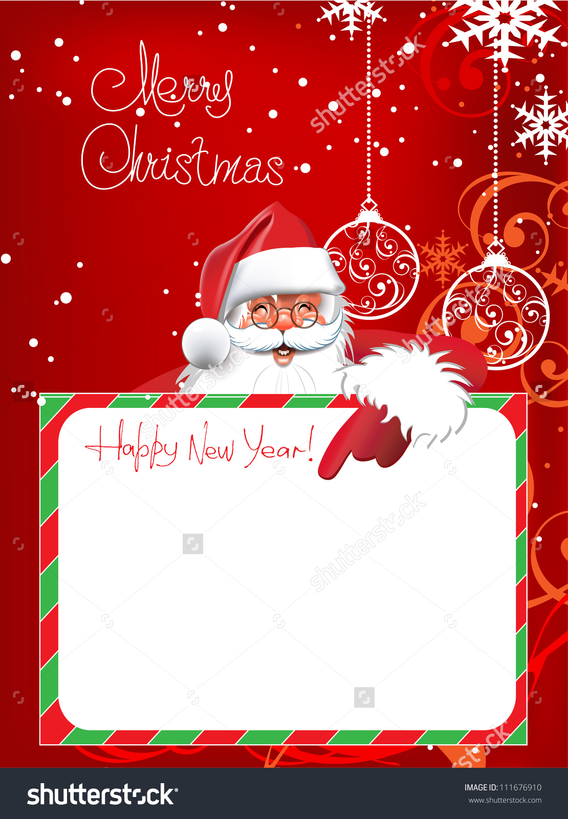 Santa letter paper