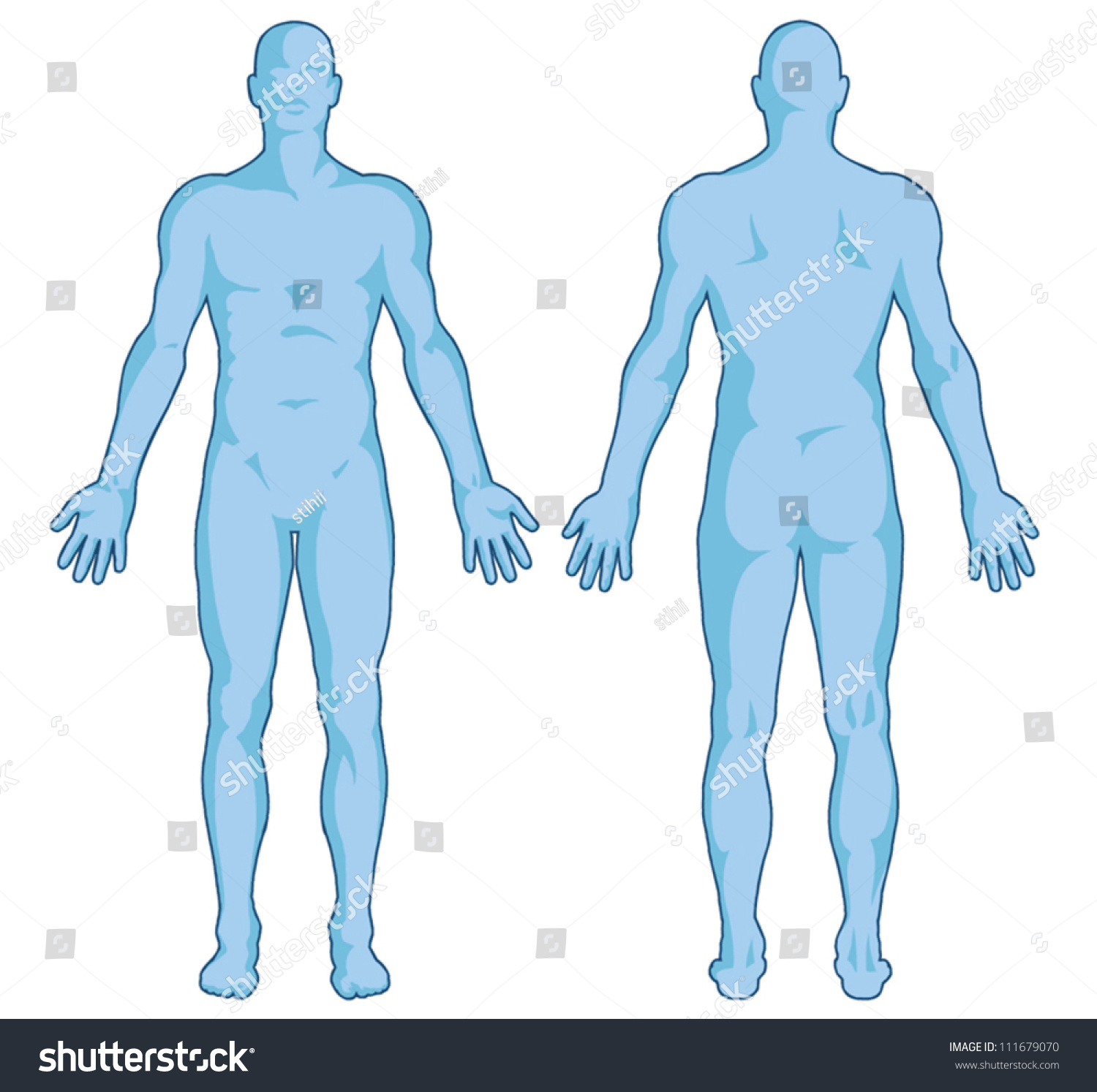 Male Body Shapes Human Body Outline Stock Photo Photo Vector