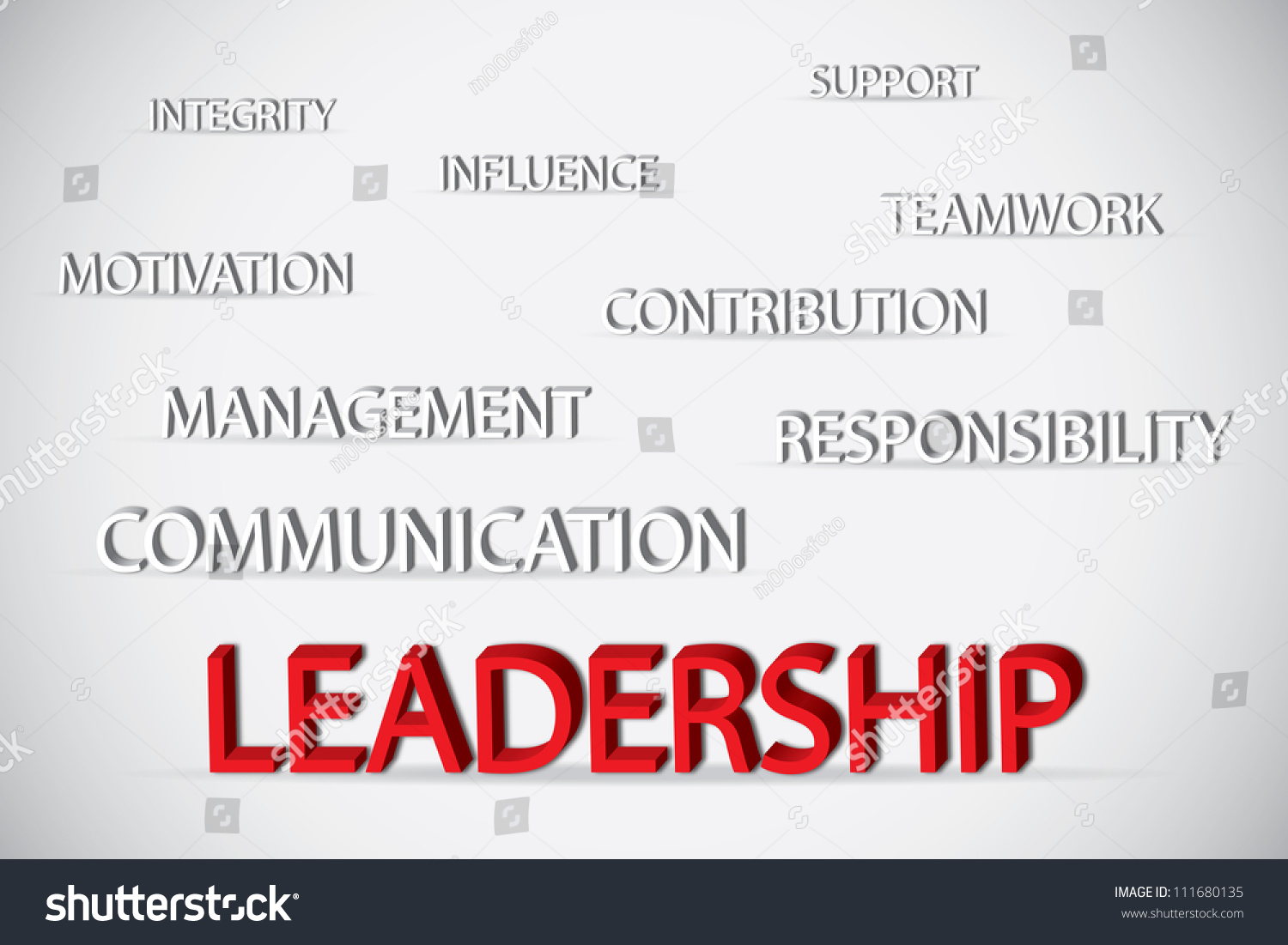 concept of leadership consists of support integrity influence influence teamwork motivation management preview save to a lightbox