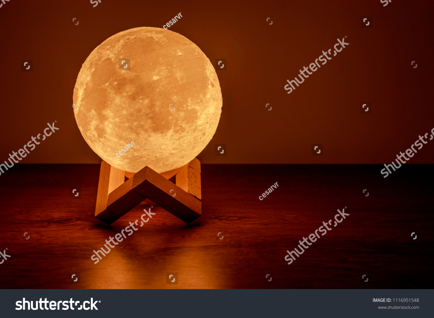 Moon lamp on the table #1116951548