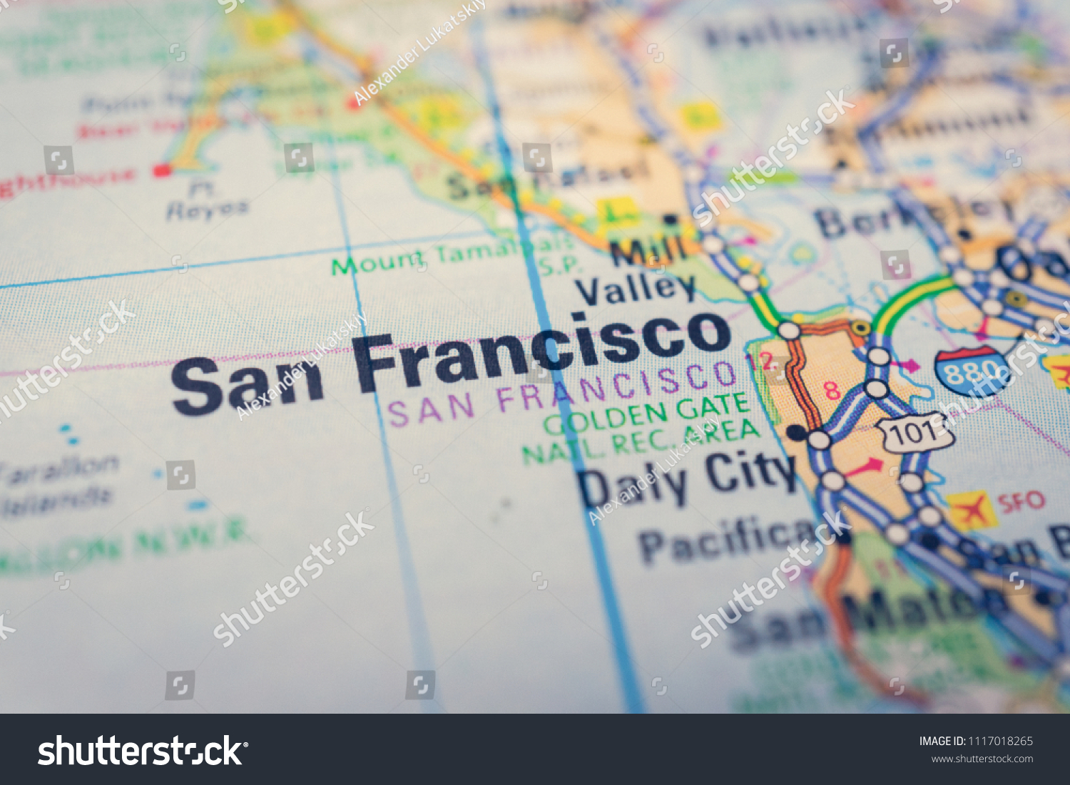 San Francisco On USA Map Stock Photo (Edit Now) 1117018265 ...
