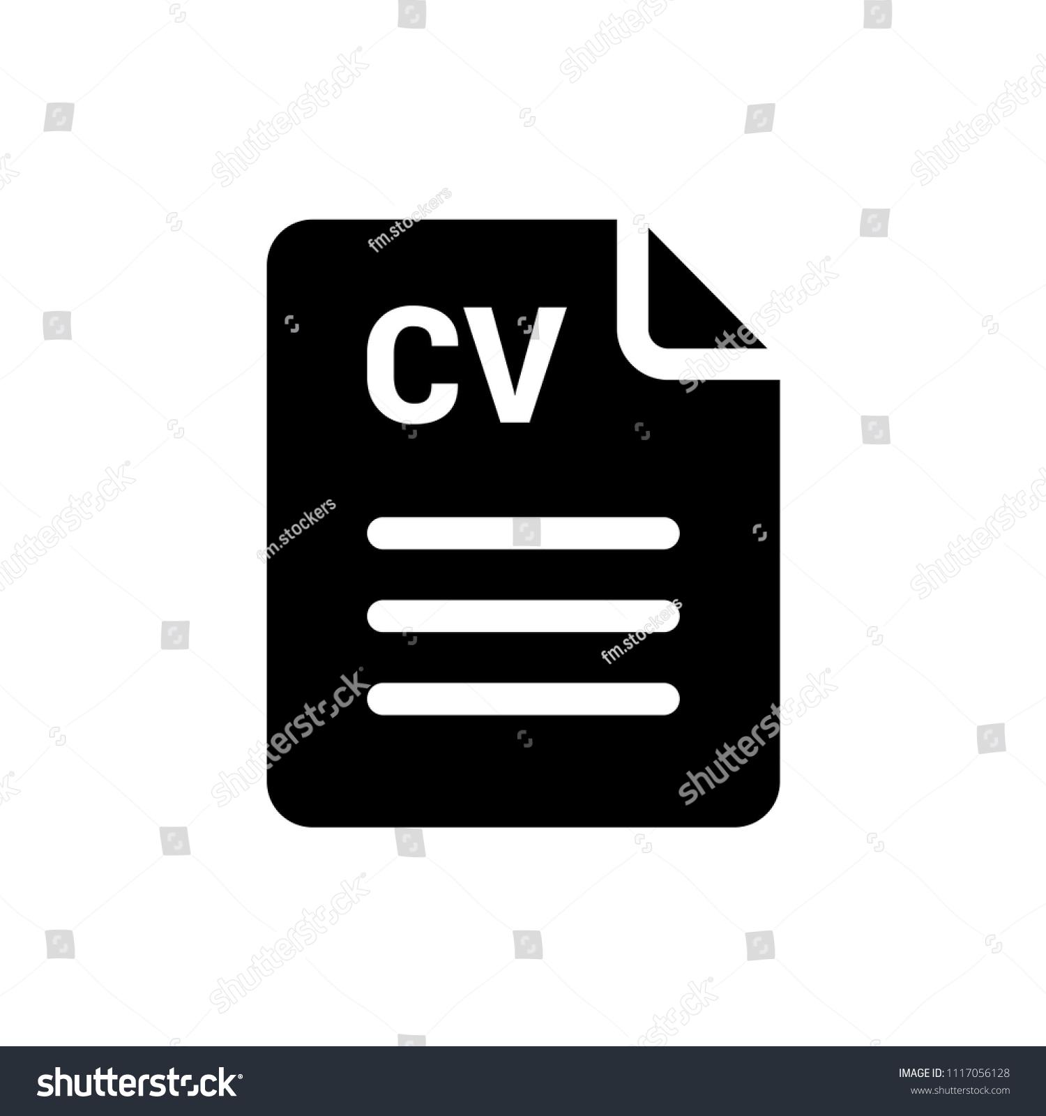 CV Vector Icon Resume Symbol Simple Stock Vector 1117056128 ...