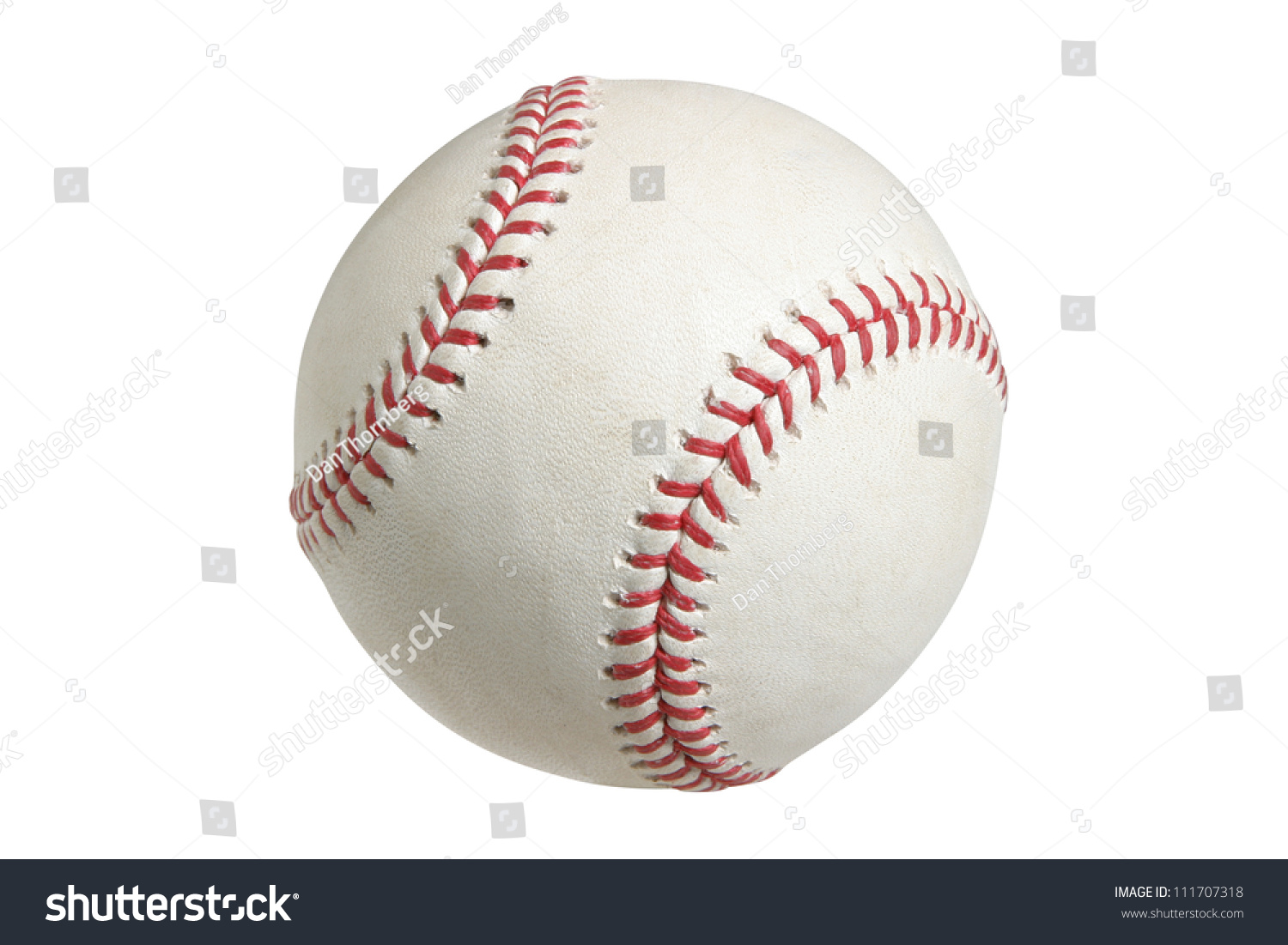 Baseball isolated on white with clipping path #111707318
