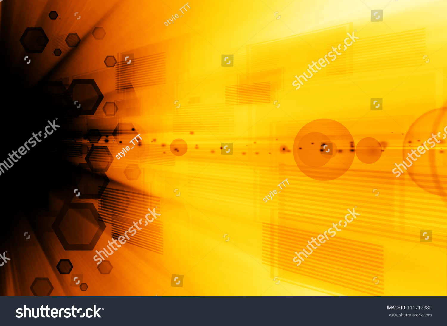 abstract dark yellow technology background stock