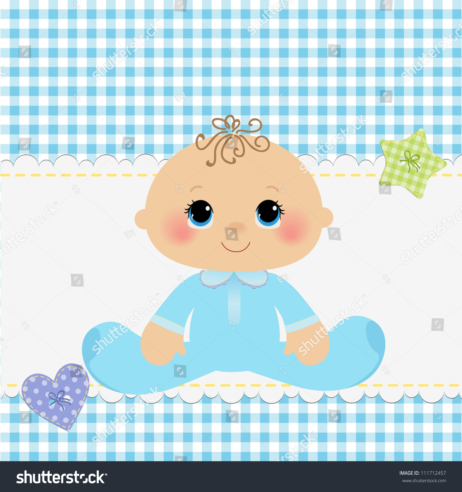 Cute Template Baby Arrival Announcement Card Stock Vector - Baby arrival announcement