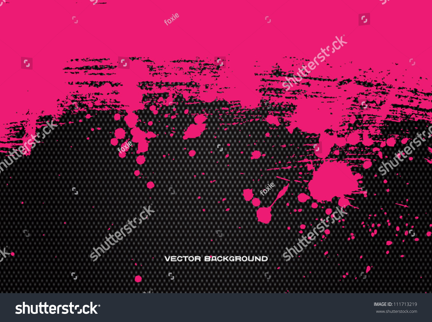 Bright Pink Paint Bright Pink Vector Hand Painted Brush Stock Vector 111713219