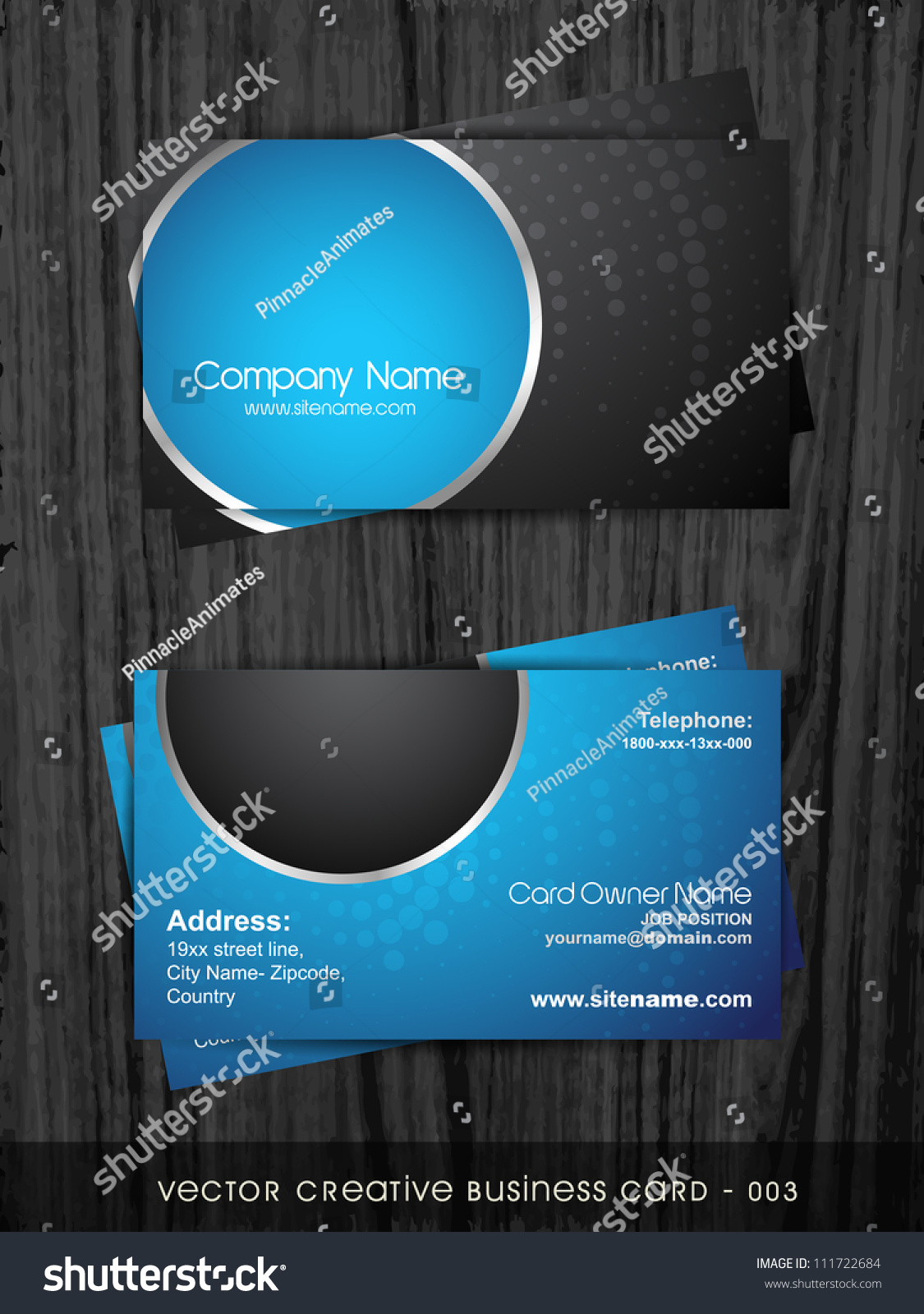 Stylish dark business card template stock vector 111722684 stylish dark business card template colourmoves