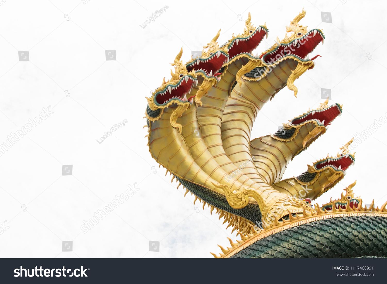 Close Naka Head Thai Dragon Head Stock Photo (Safe to Use ...
