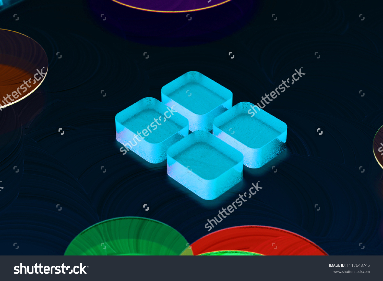 Blue Large Text Editor Icon On Stock Illustration 1117648745