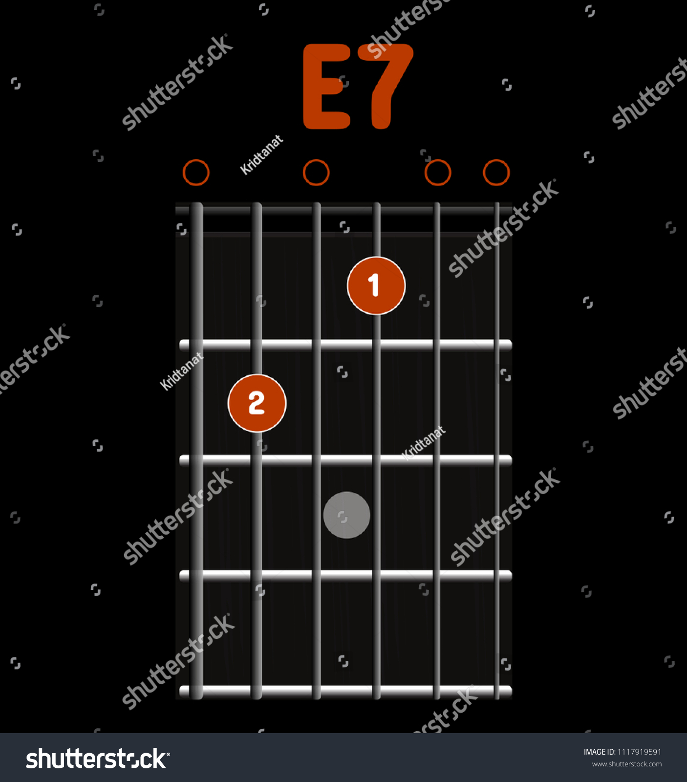 Chord Diagram Tab Tabulation Finger Chart Stock Vector Royalty Free Guitar Acoustic Sketch Electric Basic Chords Lesson