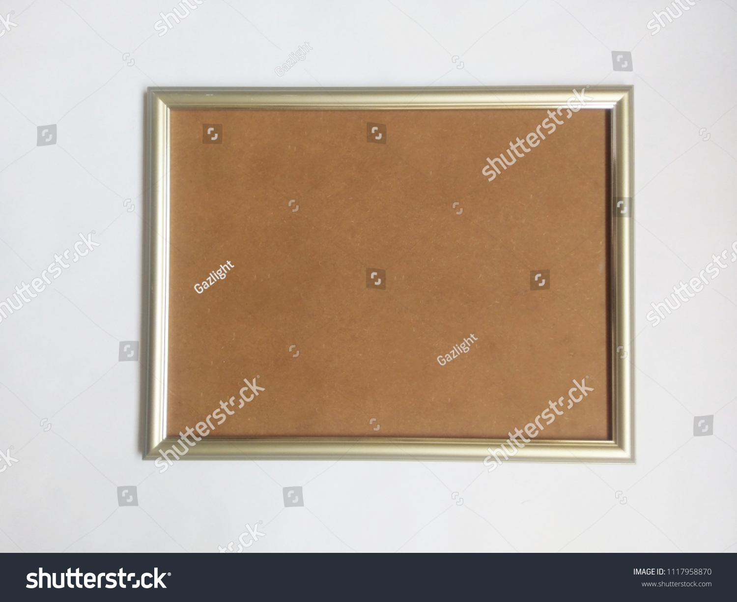 Empty Silver Frame Cardboard Backing Stock Photo Edit Now