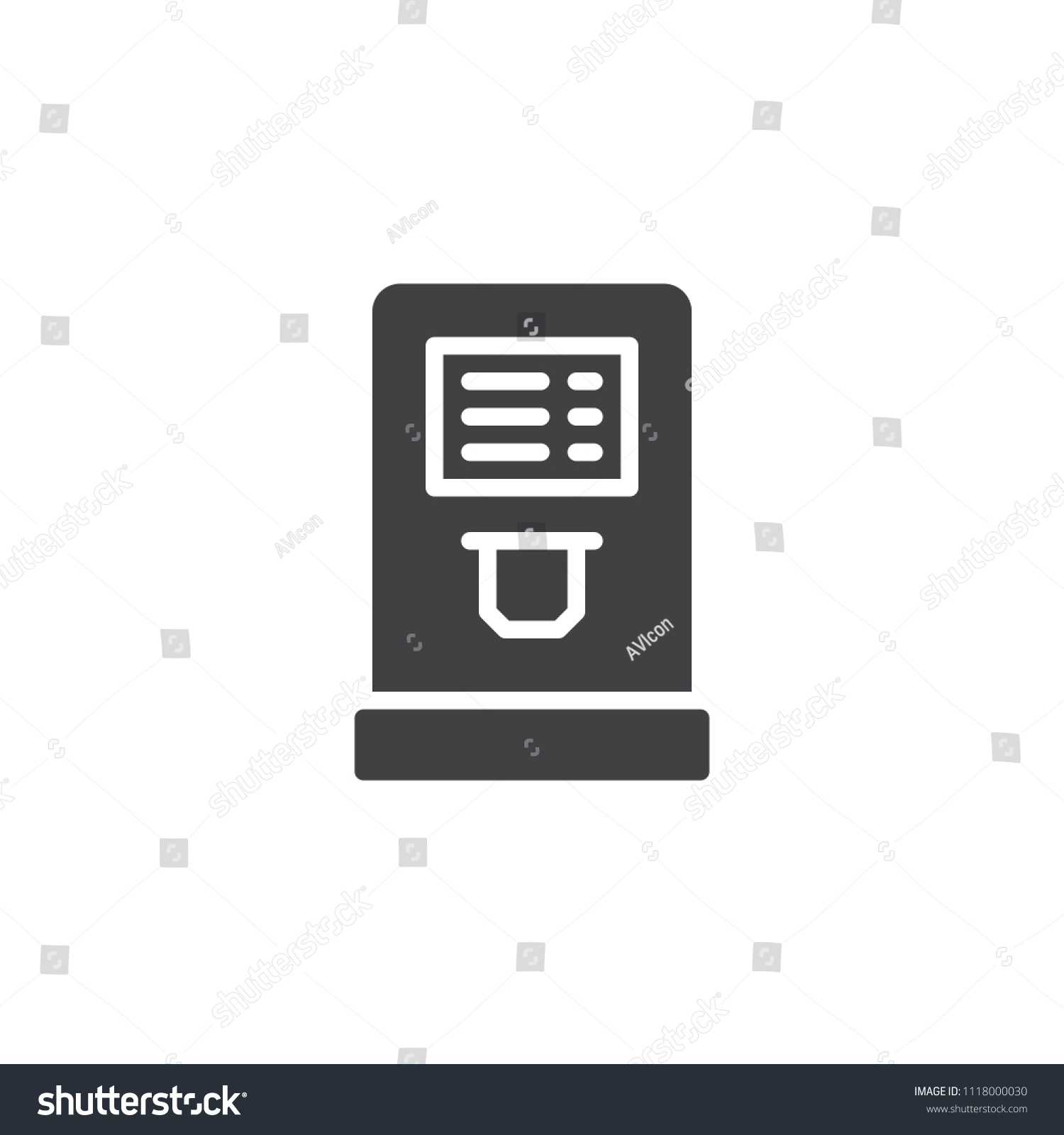 Airport Check Terminal Vector Icon Filled Stock Vector (Royalty Free