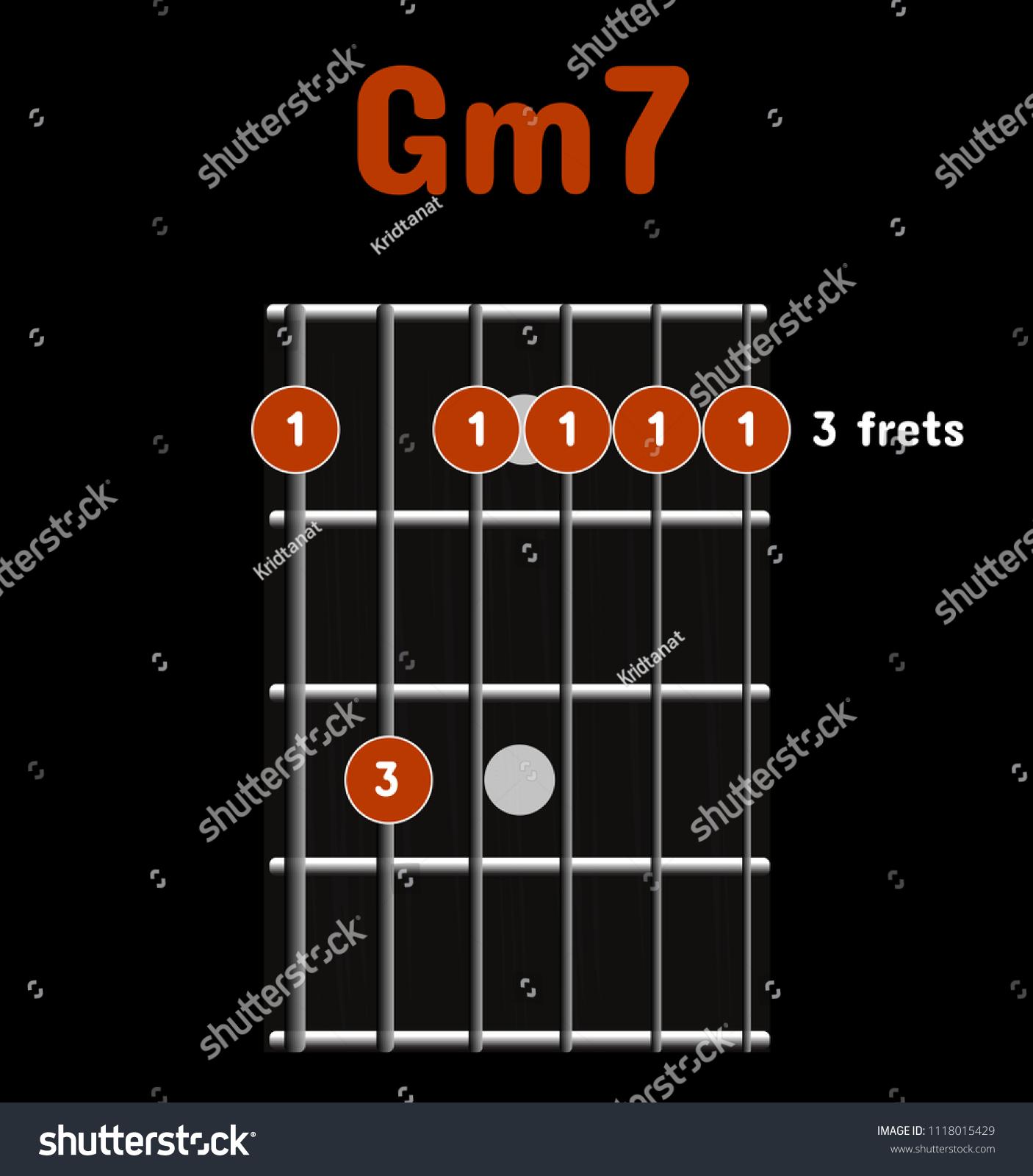 Chord Diagram Tab Tabulation Finger Chart Stock Vector Royalty Free