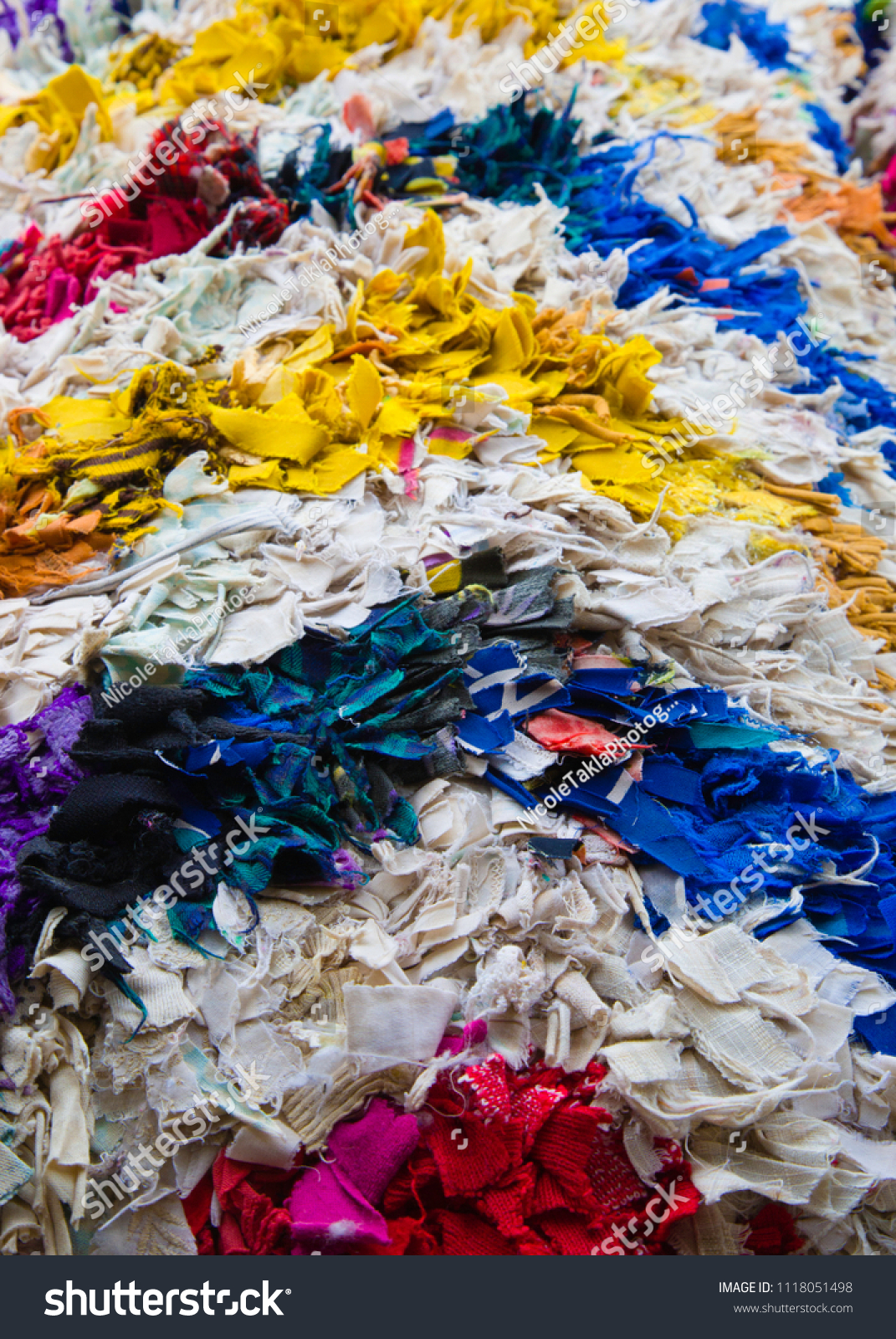 Layers Fabric Scraps Grouped By Color Stock Photo Edit Now 1118051498