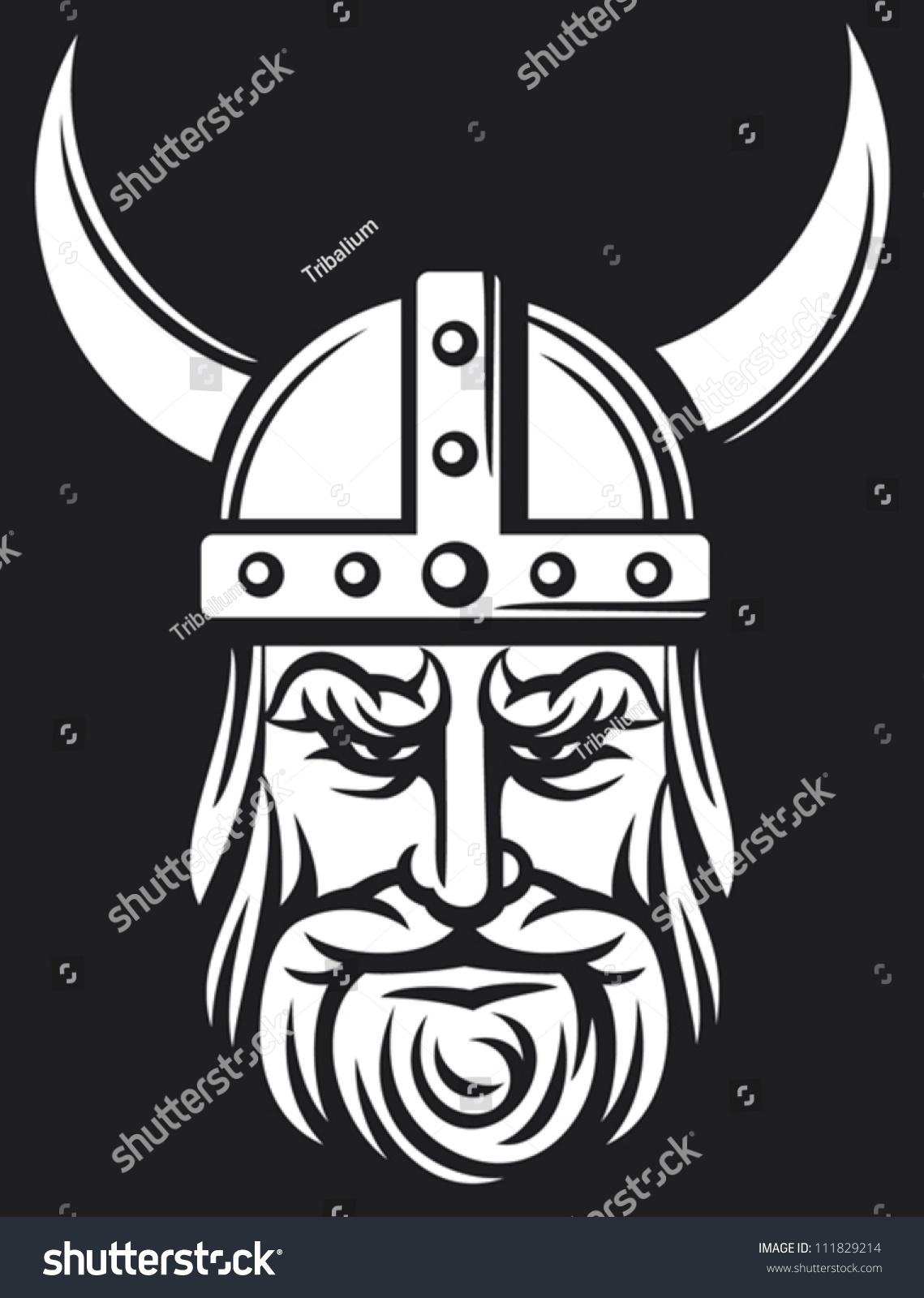 Viking Head Horned Helmet Stock Vector 111829214 ... Horned Viking Helmet Goblin Rocket Helmet