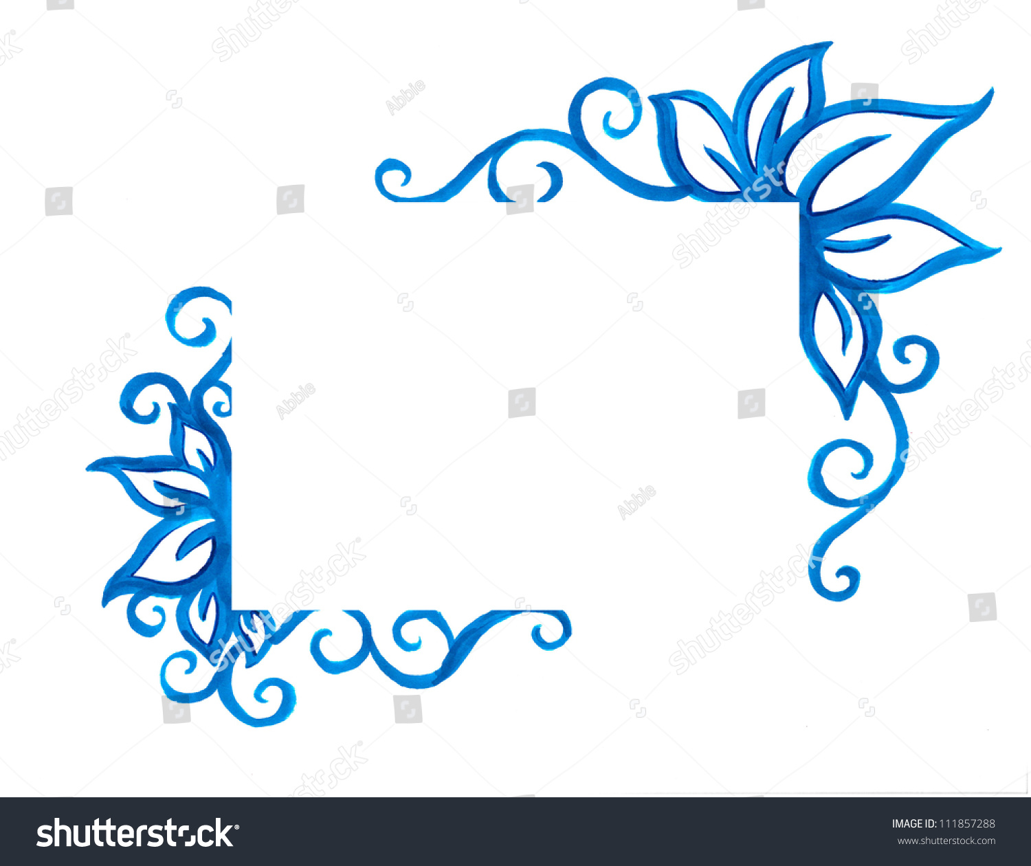 blue design element fancy decoration blank stock illustration blue design element or fancy decoration blank copyspace for text isolated on white background for