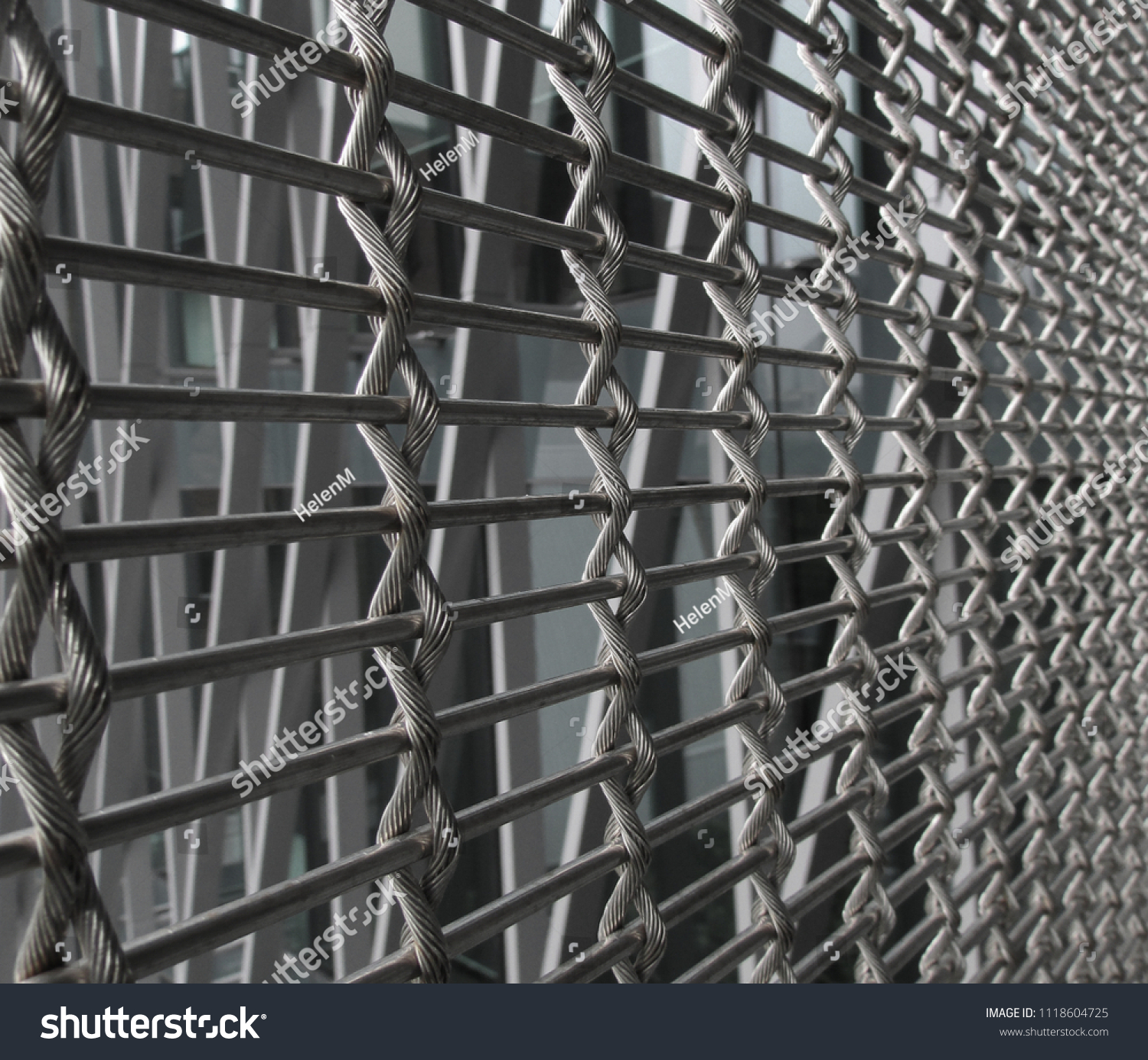 Twisted Wire Reinforced Fencing Barrier Metal Stock Photo (Royalty ...