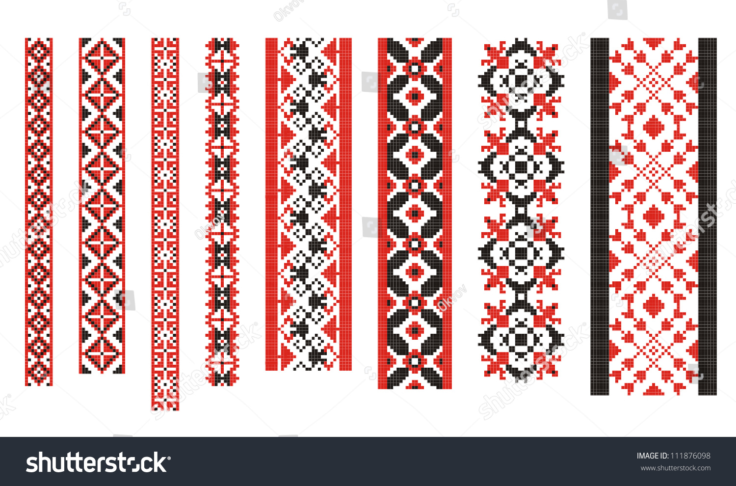 Vector Illustrations Ukrainian Embroidery Stock Vector Royalty Free