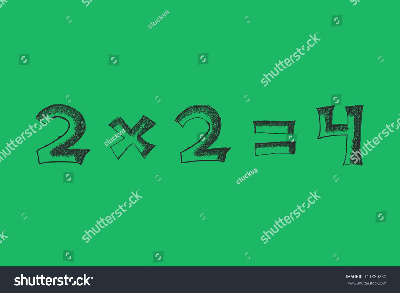 Solution Simple Math Problem On Blackboard Stock Vector 111880280 ...