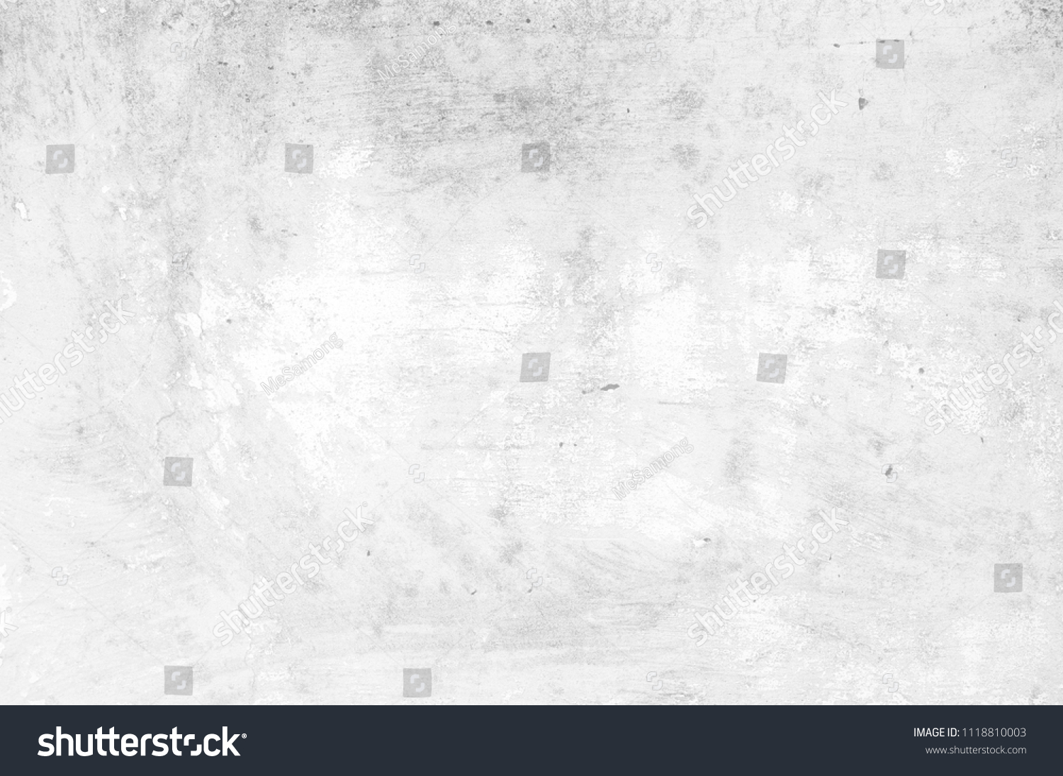 White Grunge Concrete Wall Texture Background. #1118810003