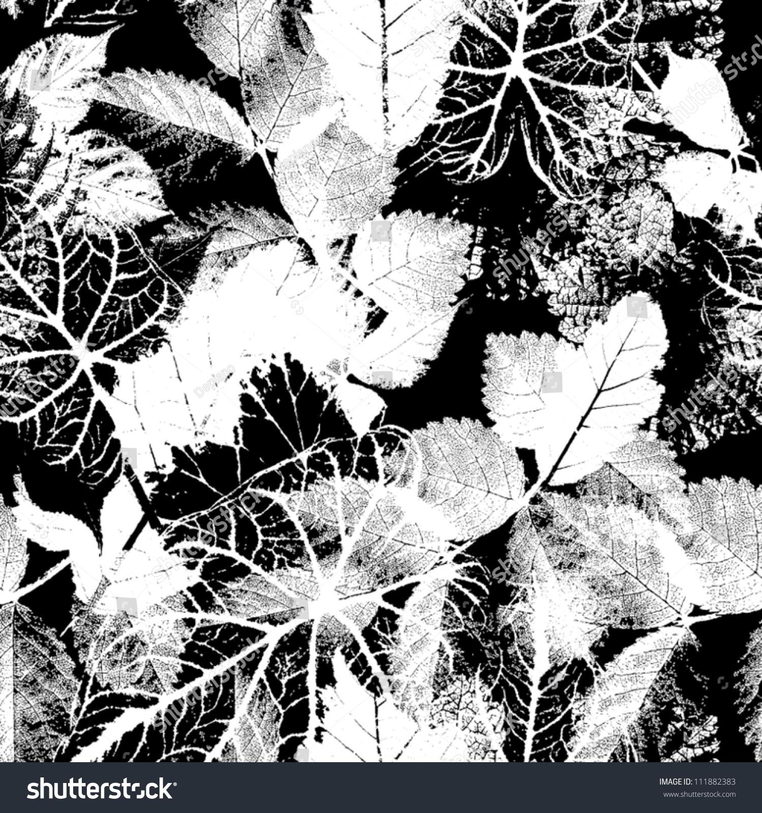Vector Flower Black White Background Wallpaper: Black White Seamless Pattern Abstract Seamless Stock