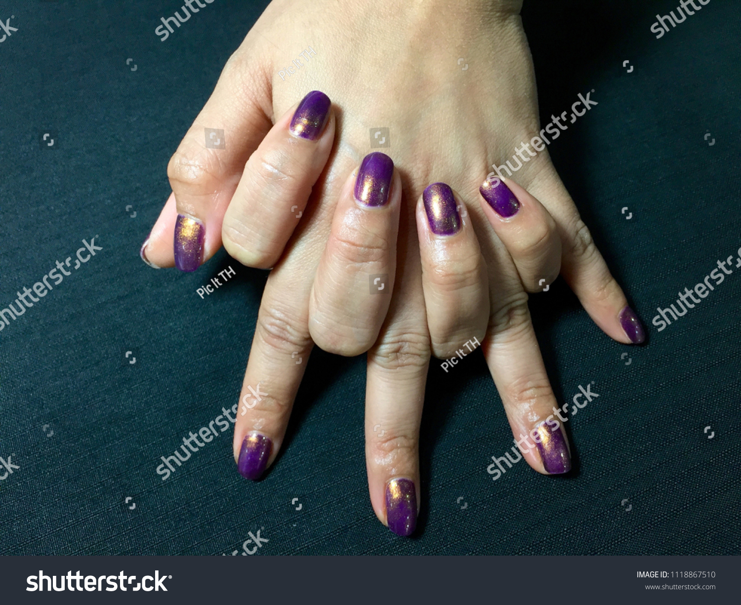 Nails Art Beautiful Nail Polish Hand Stock Photo Edit Now