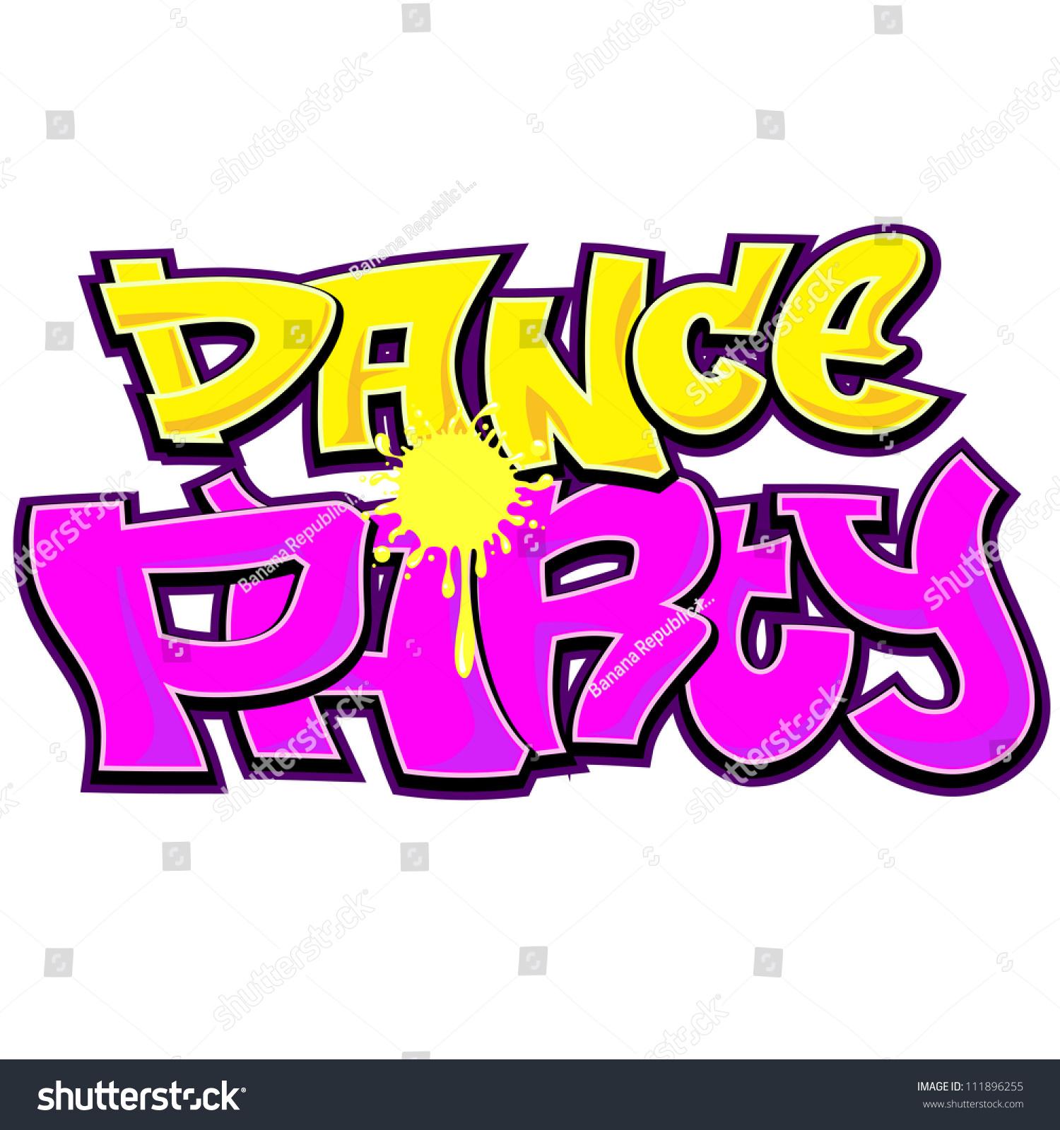 Graffiti art designs - Dance Party Graffiti Urban Art Design