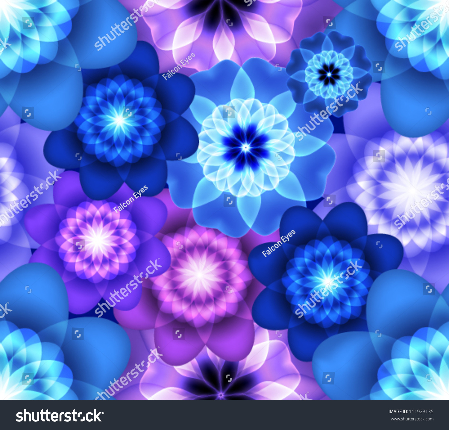 Bright seamless pattern blue purple flowers stock vector 111923135 bright seamless pattern with blue and purple flowers izmirmasajfo