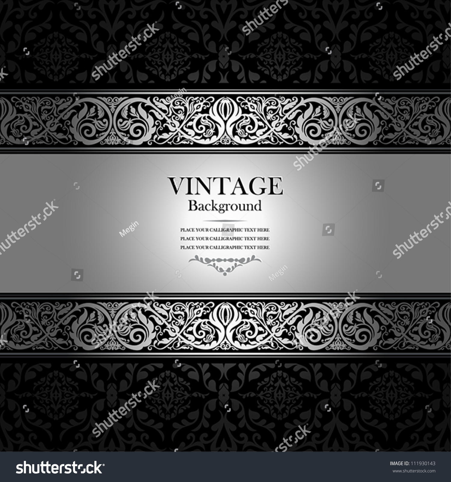 vintage background antique victorian silver or nt stock vector vintage background antique victorian silver or nt black and white frame beautiful old