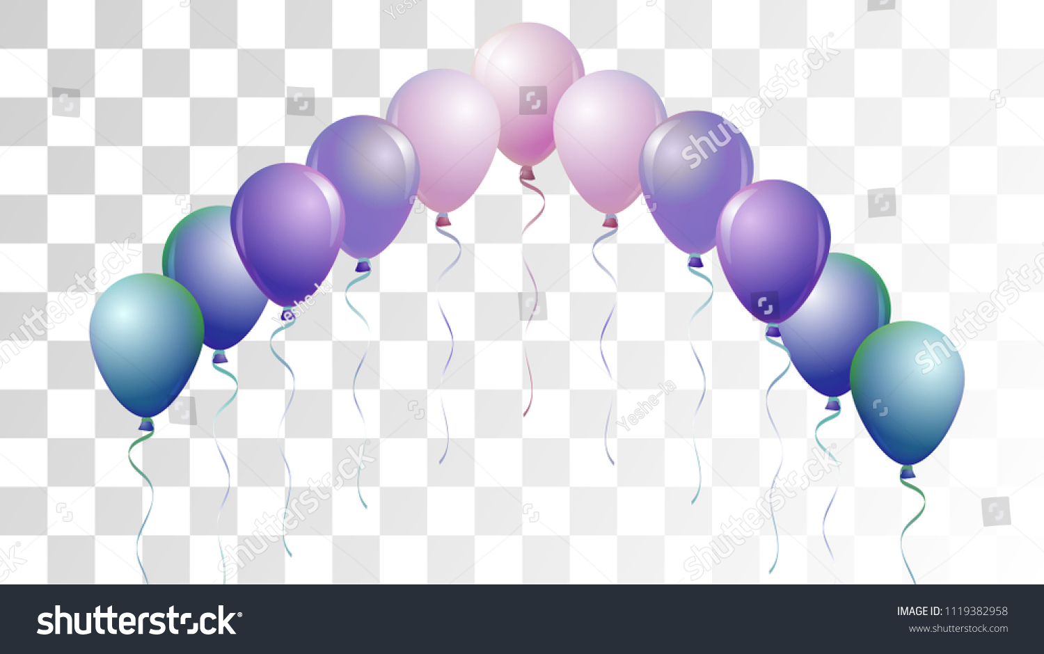 bright realistic helium vector balloons falling happy birthday new year party background funky