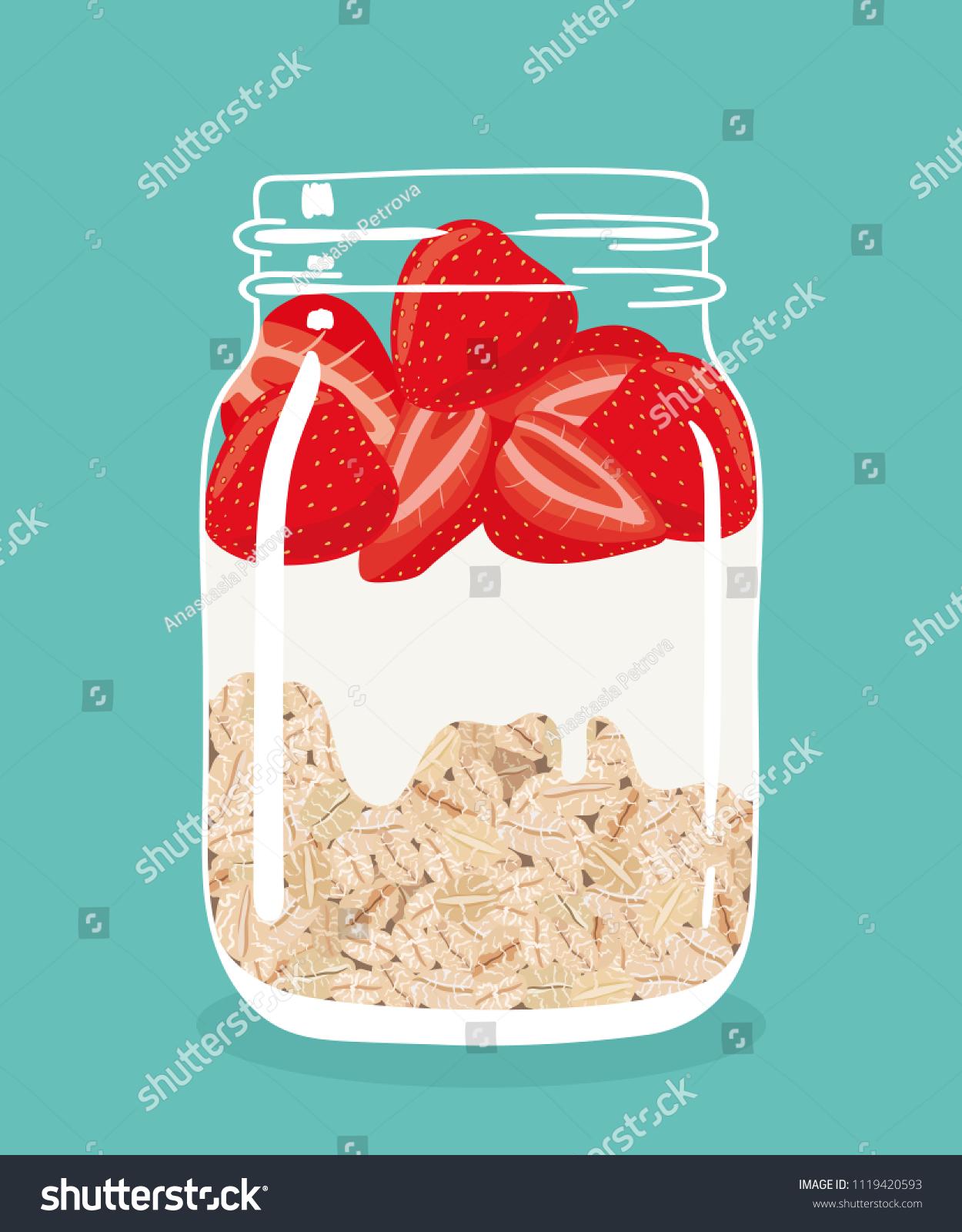 Mason Jar Yogurt Oatmeal