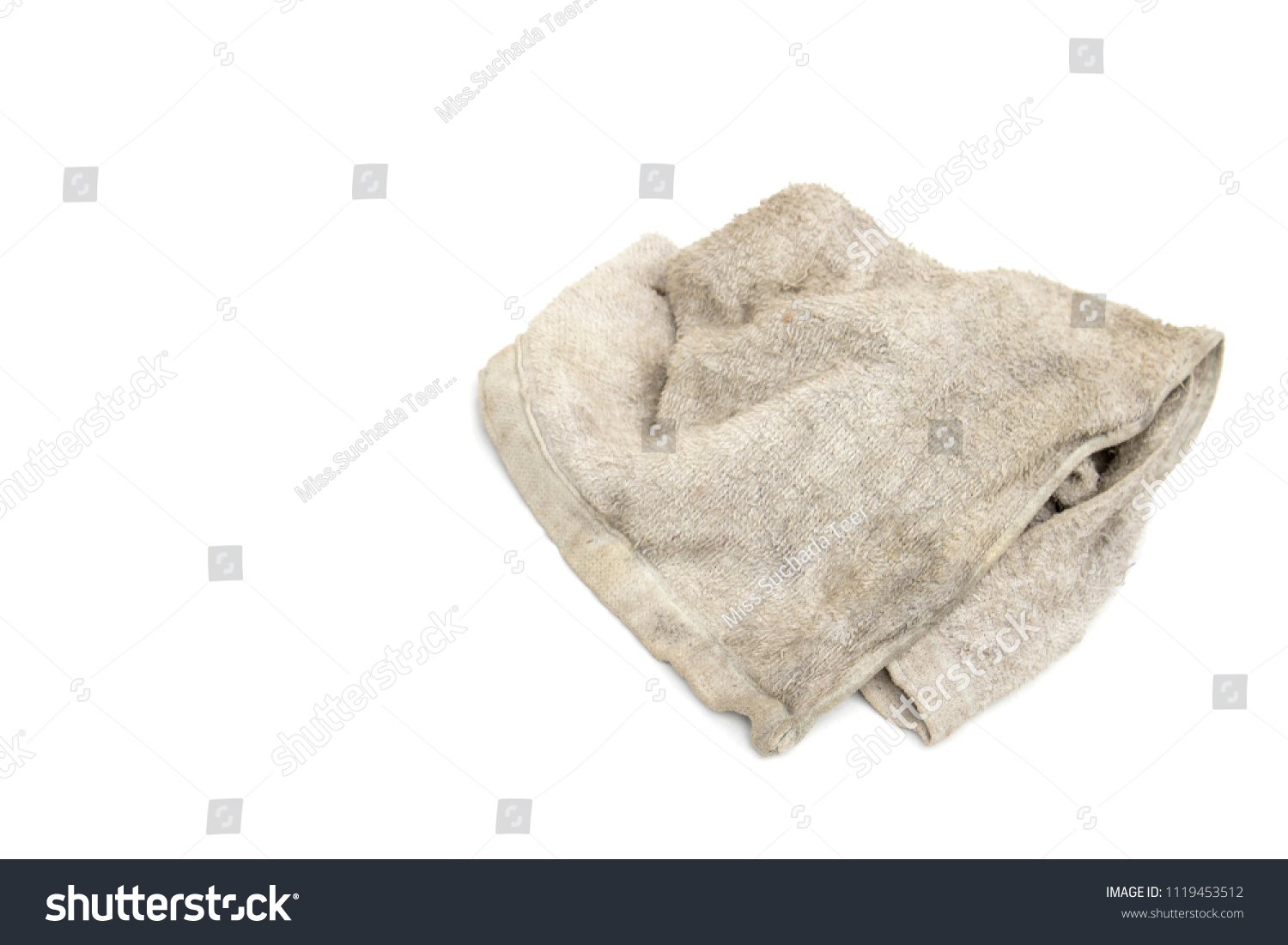 90661306e4ae9 Dirty Rag Isolated On White Background Stock Photo (Edit Now ...
