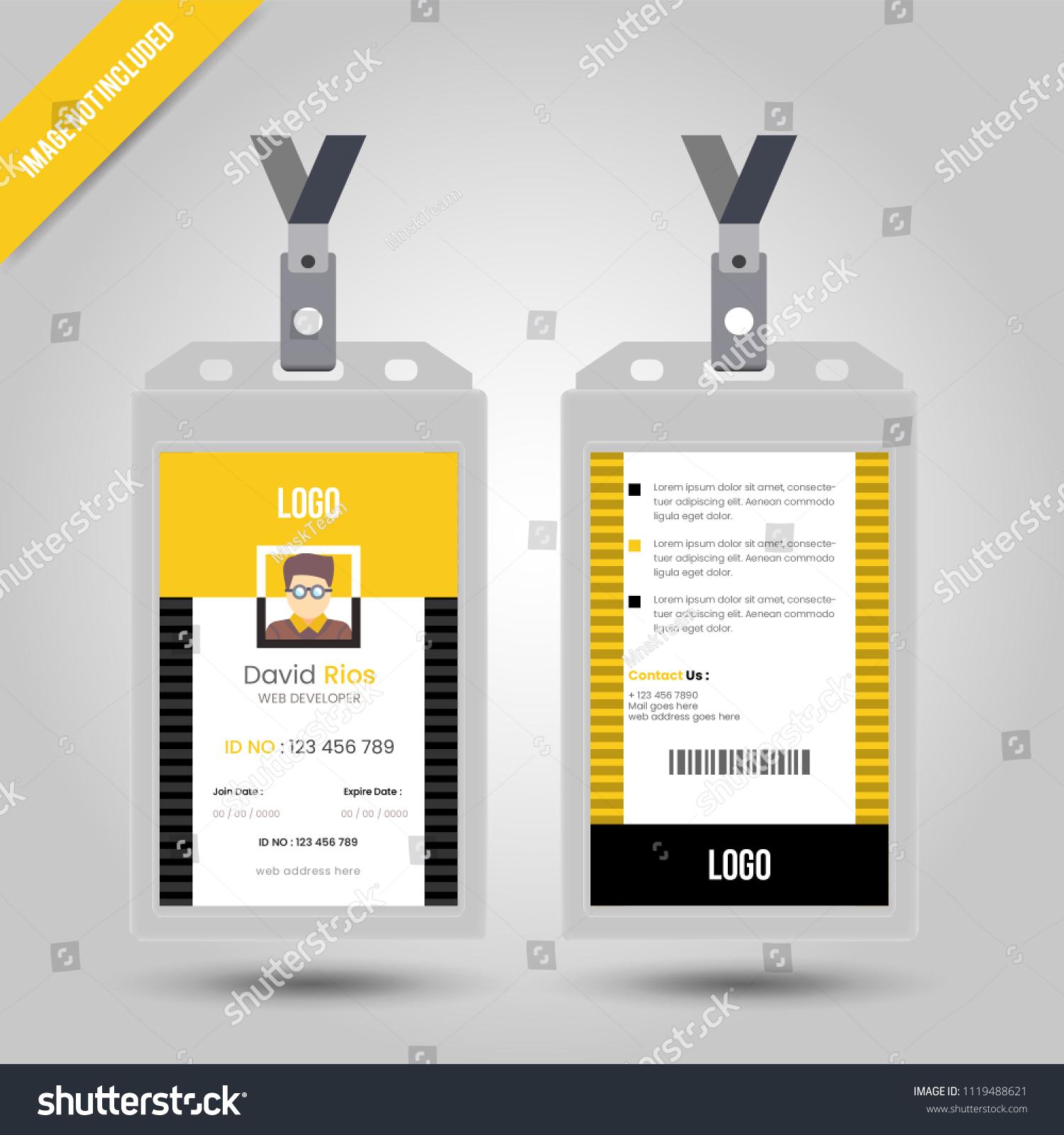 Id Card Lanyard Set Isolated Vector Stock Vector Royalty Free