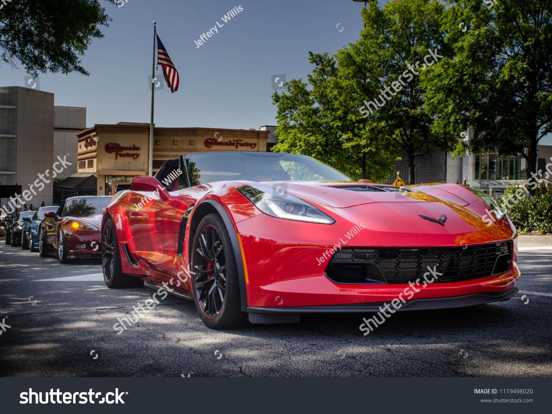 Line Corvettes Corvette Event Photography Caffeine Stock Photo Edit Now 1119498020