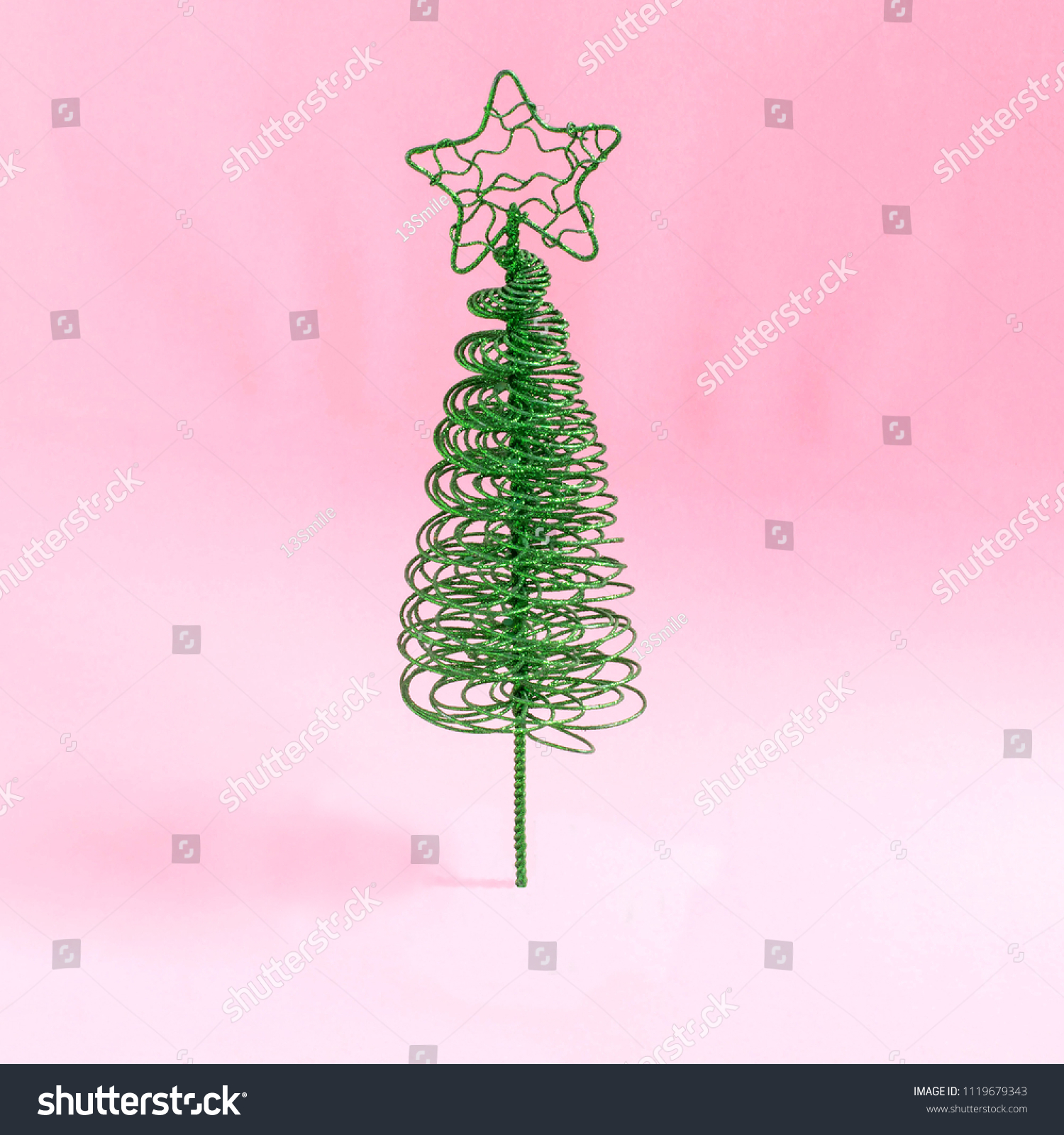 Small Elegant Christmas Tree Made Wire Stock Photo Edit Now 1119679343