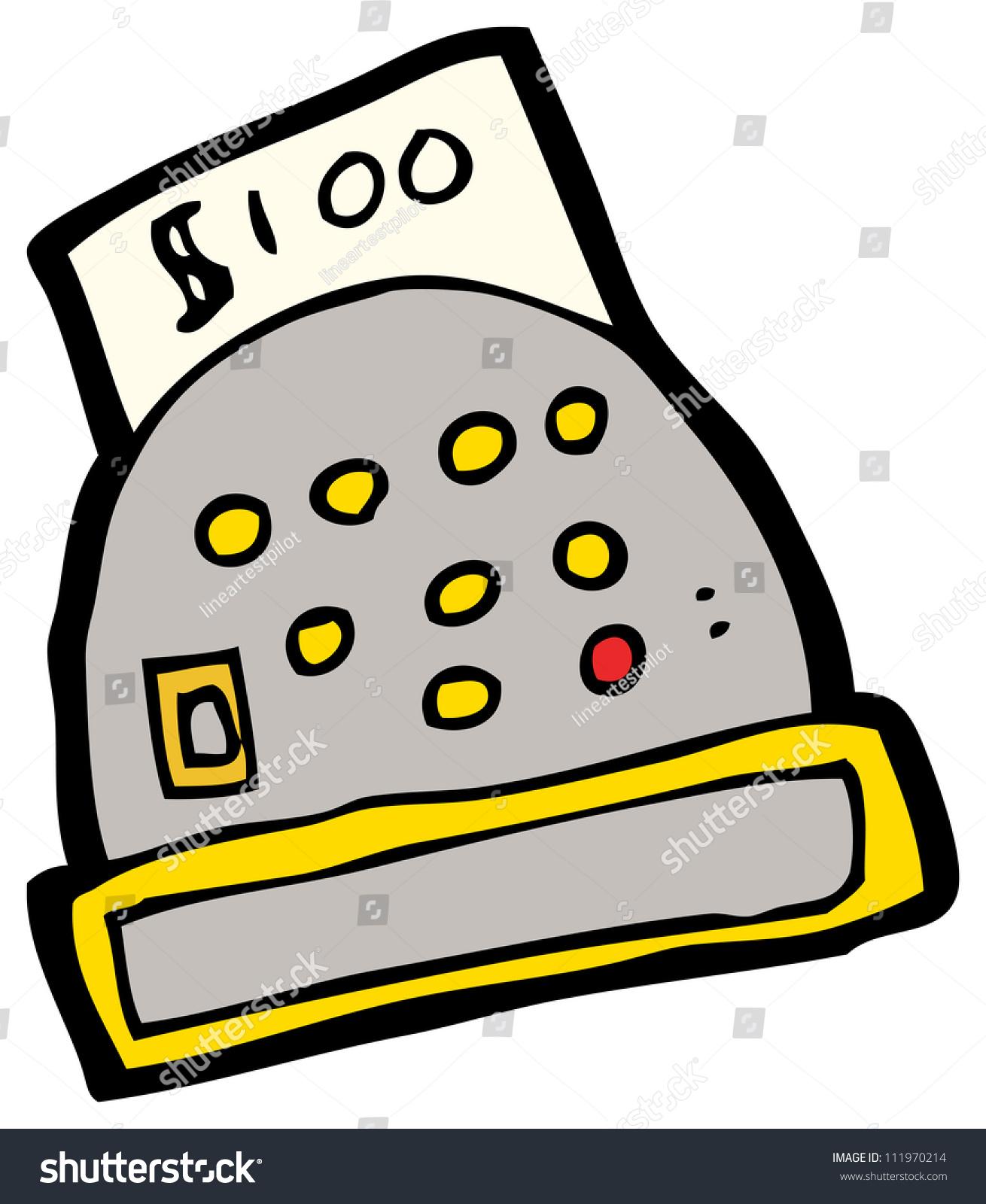 Cashier Cartoons: Cartoon Cashiers Till Stock Illustration 111970214