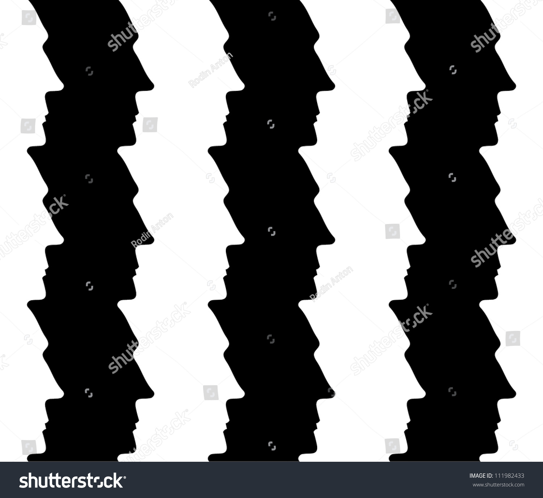 human optical illusion face vector seamless pattern modern shutterstock