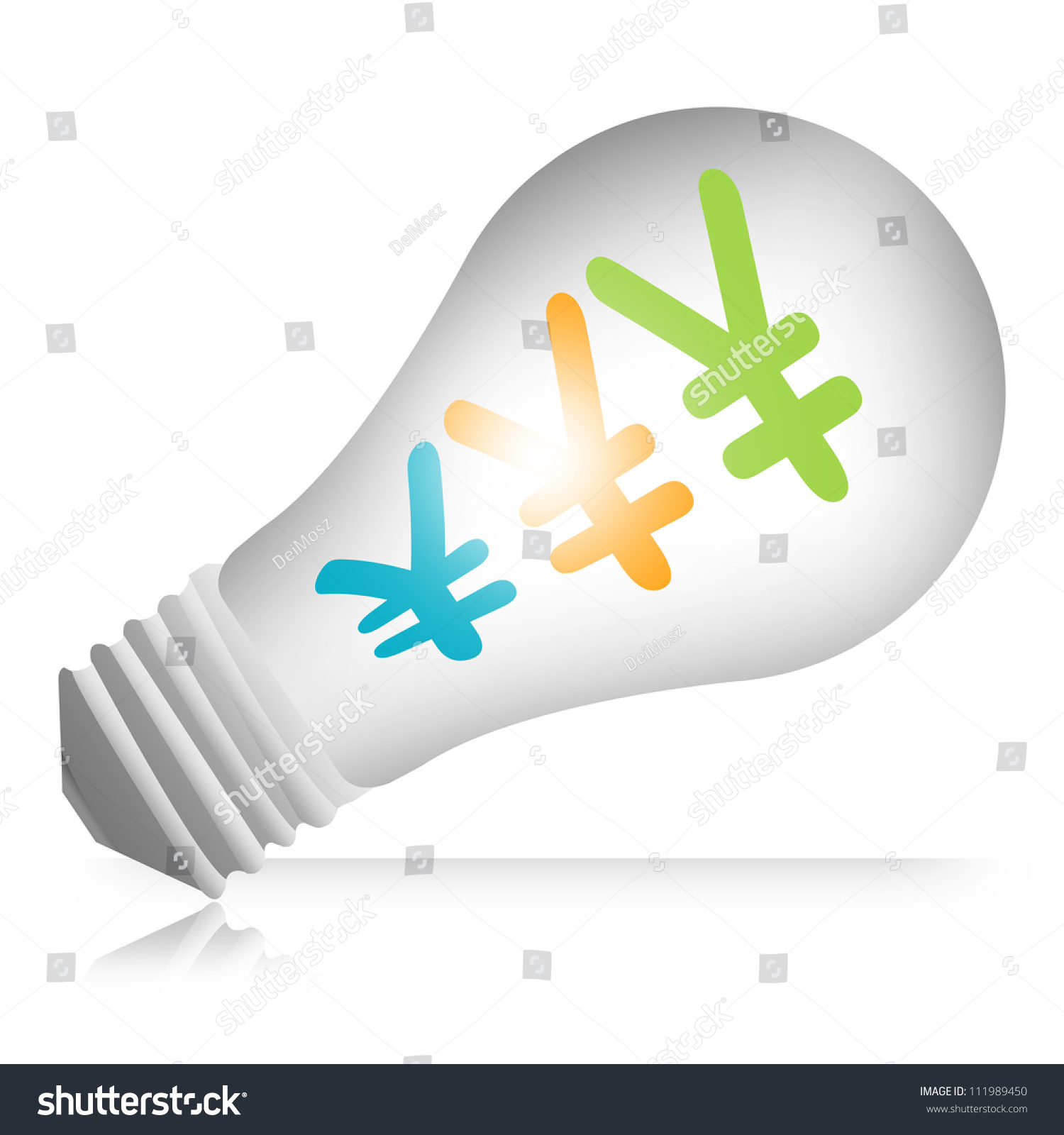 Japanese yen chinese yuan currency symbols stock illustration japanese yen or chinese yuan currency symbols in light bulb isolated on white background biocorpaavc