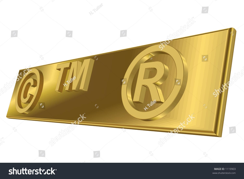 Copyright Trademark Registered Trademark Symbols Stock Illustration