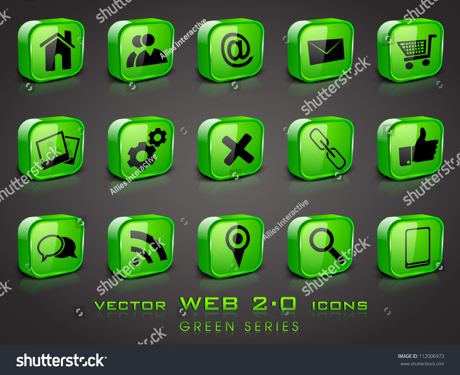 3d Web 2 0 Mail Icons Set Can Be Used For Websites Web