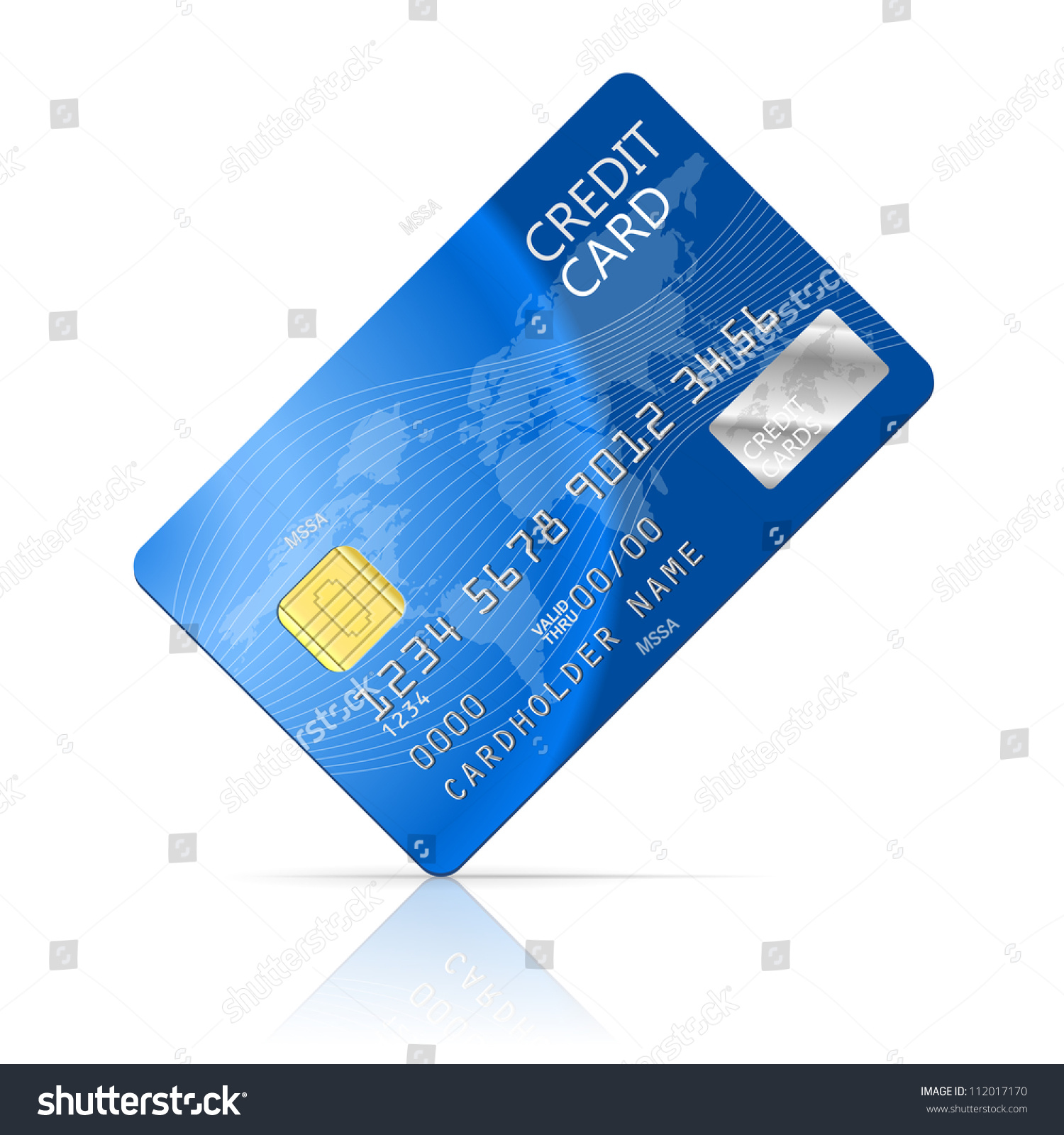 Illustration Credit Card Icon Isolated Stock Vector