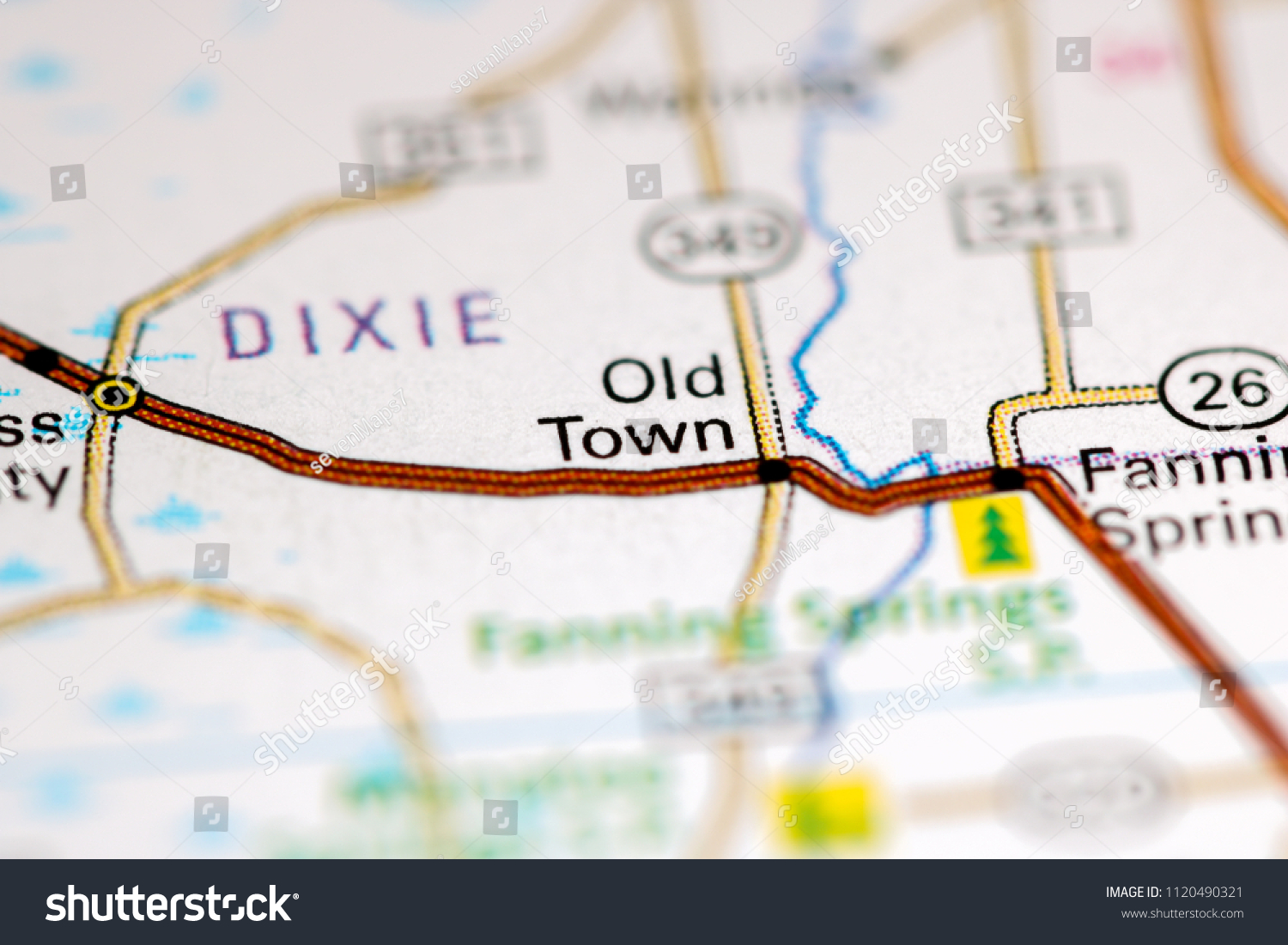 Old Town Florida Map.Old Town Florida Usa On Map Stock Photo Edit Now 1120490321