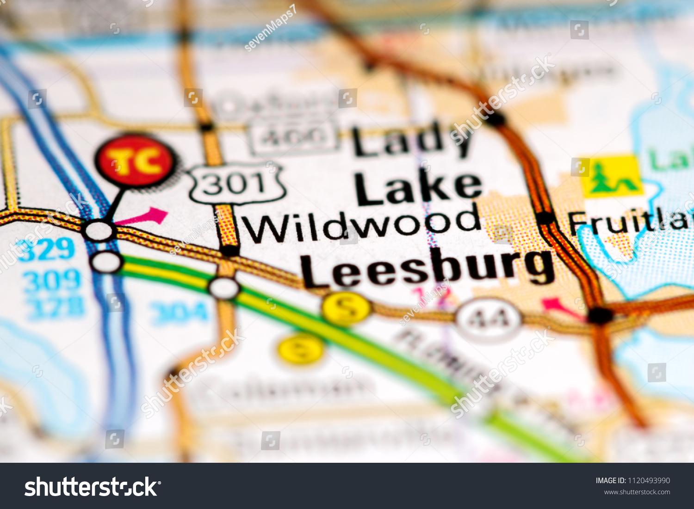 Wildwood Florida Map.Wildwood Florida Usa On Map Stock Photo Edit Now 1120493990