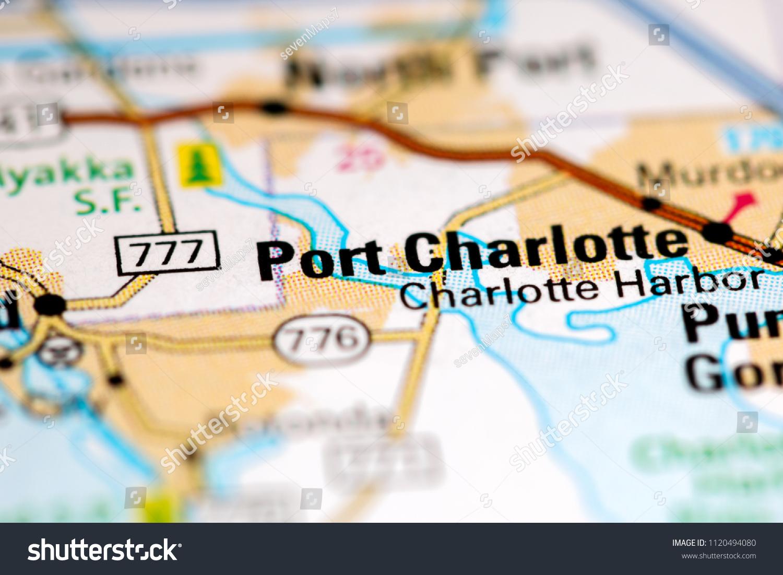 Port Charlotte Florida Map.Port Charlotte Florida Usa On Map Stock Photo Edit Now 1120494080